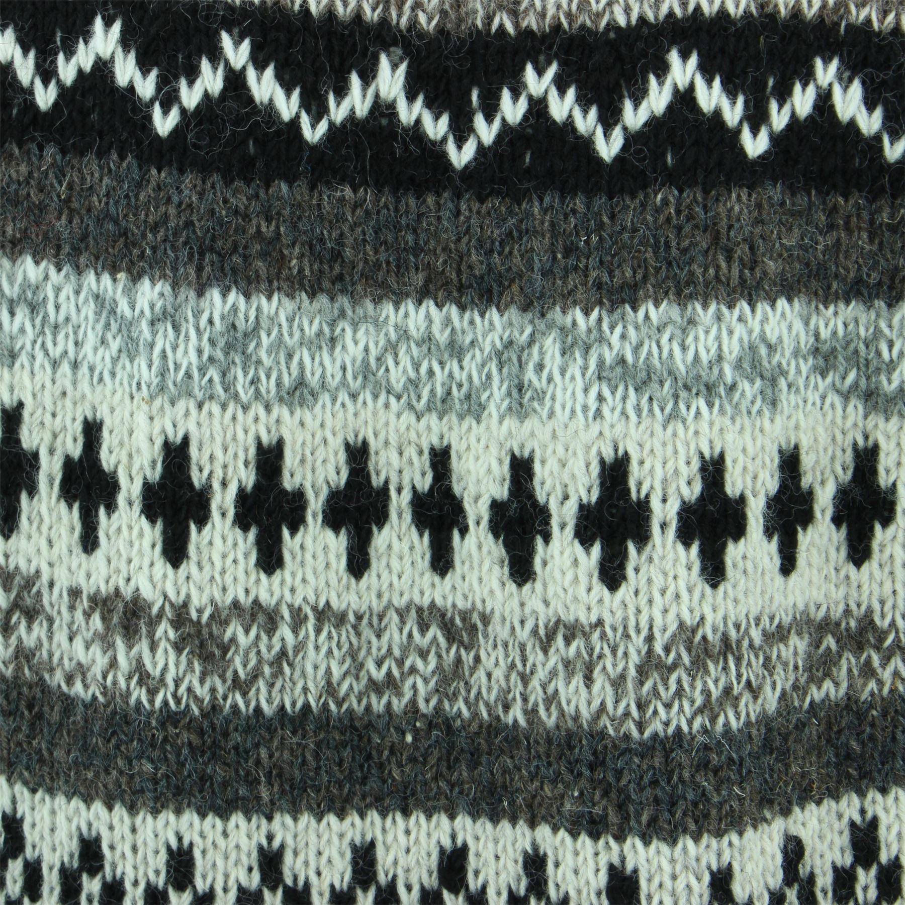 thumbnail 14 - Wool Knit Jumper Sweater Pullover Fairisle Nordic Abstract Warm Nepal Loose