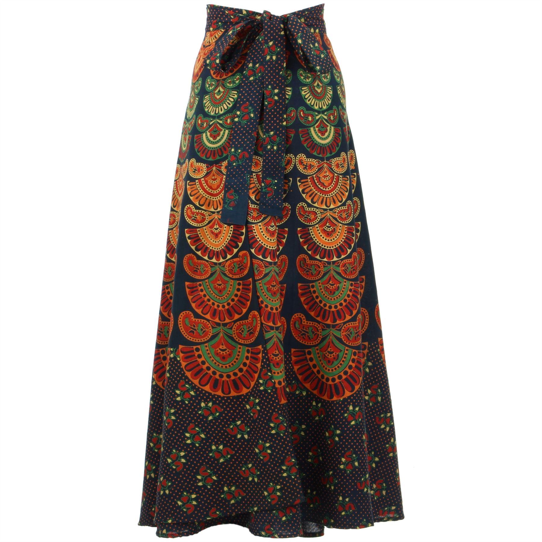boh me hippie maxi long jupe en tissu de coton boho wrap block imprim mandala ebay. Black Bedroom Furniture Sets. Home Design Ideas