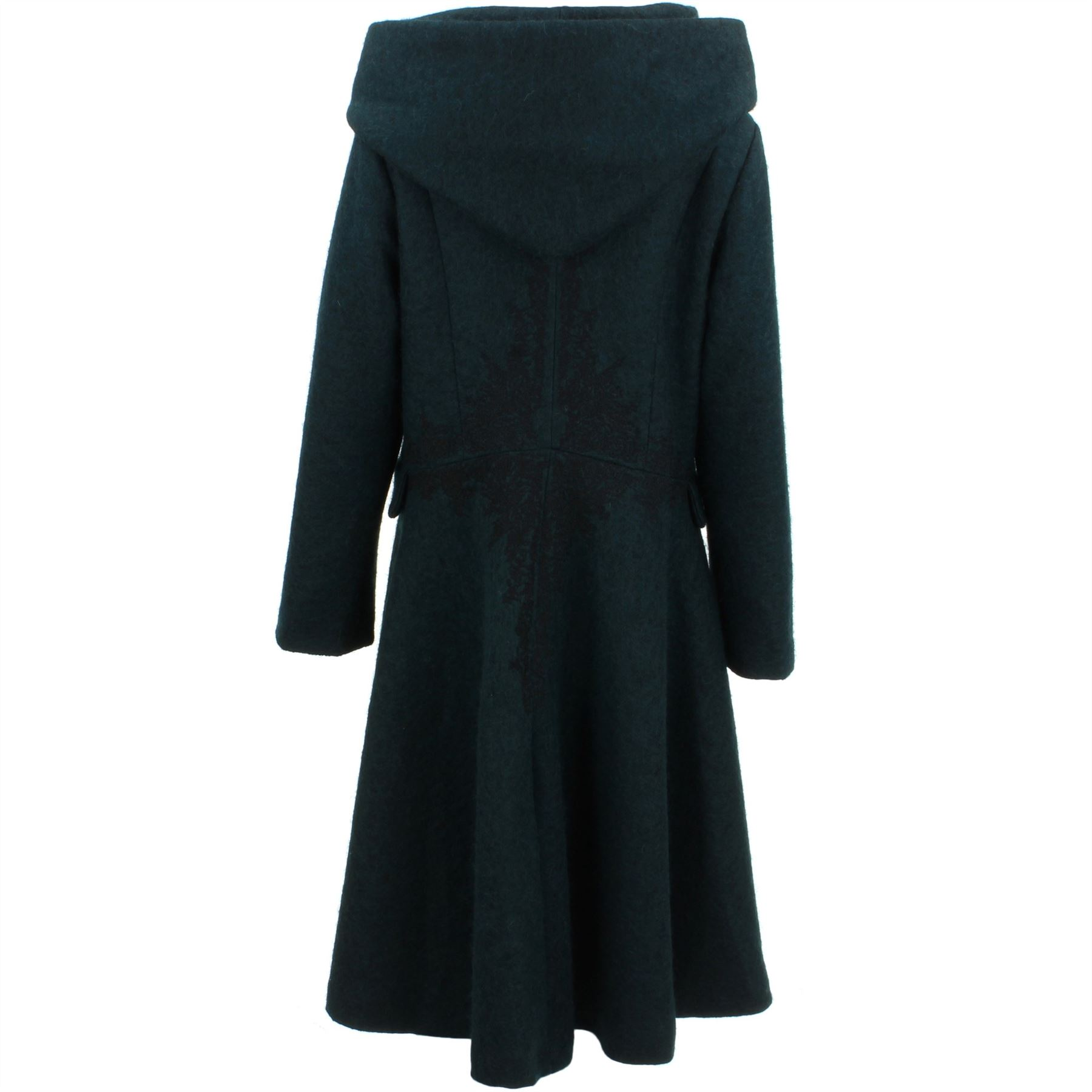 Ladies-Wool-Winter-Coat-Jacket-BOHEMIA-SWEDEN-Woven-Wool-rich-blend-Hood thumbnail 11