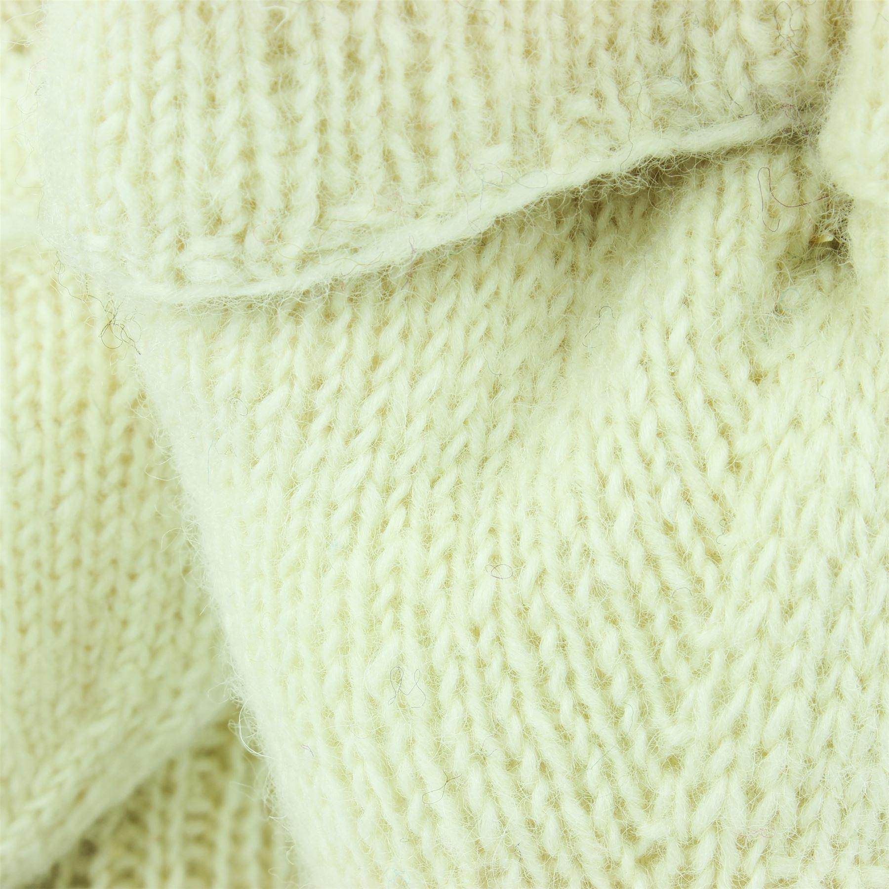Wool-Gloves-Mittens-Fingerless-Shooter-Lined-PLAIN-Knit-Handmade-LoudElephant miniatura 11