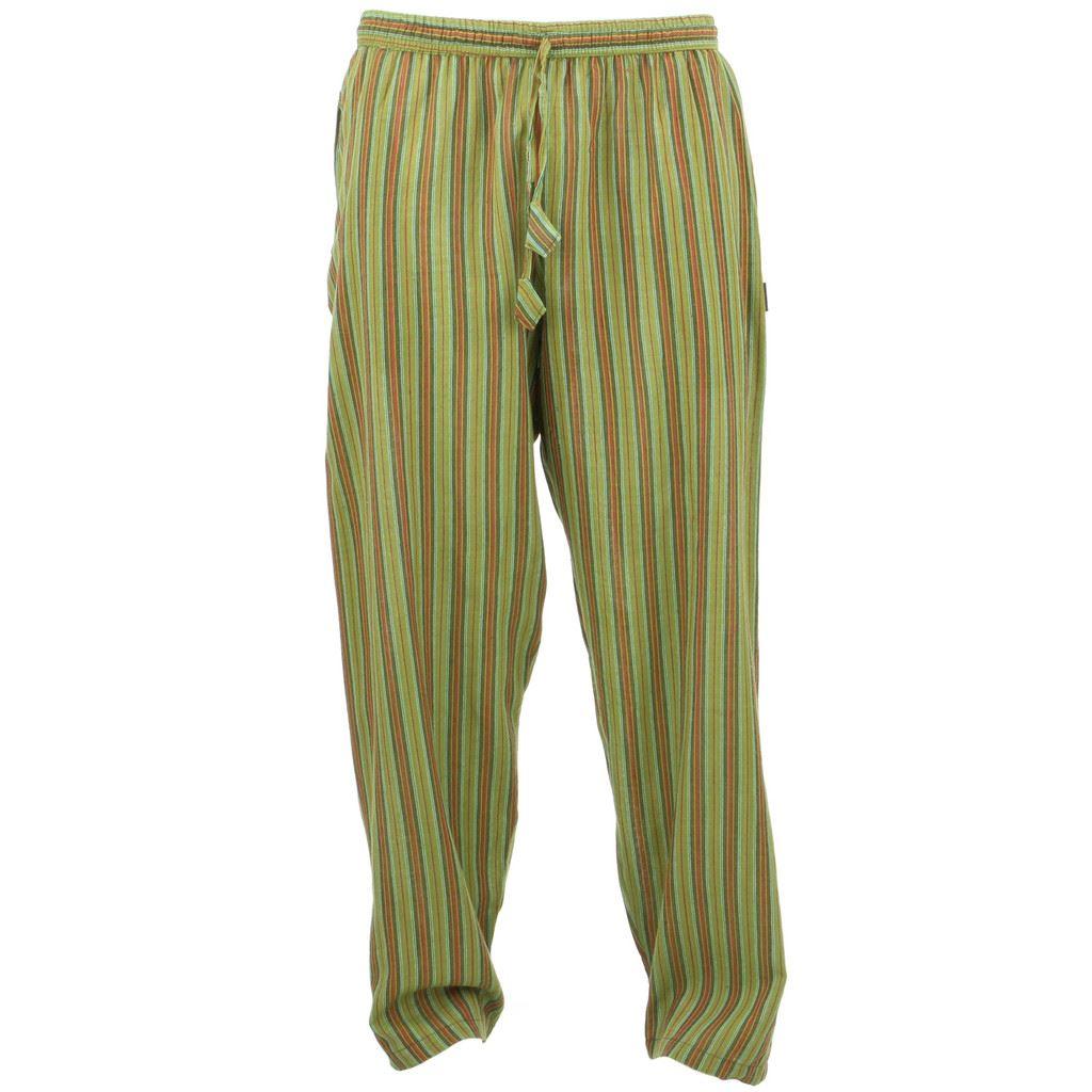 70s hippie jeans / The Brady Bunch wide striped pants / high |Hippie Striped Pants
