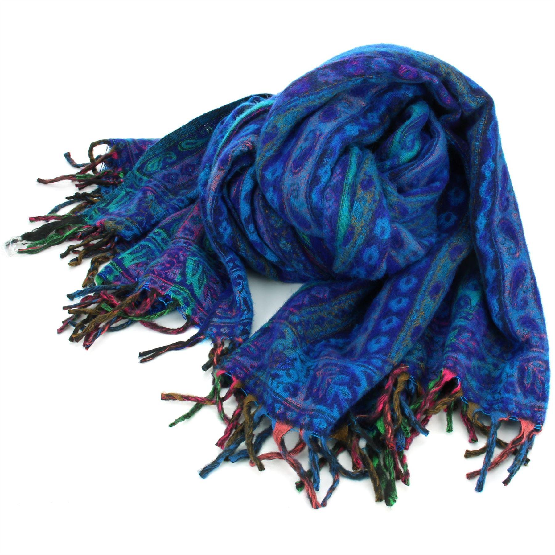 Acrylic-Wool-Blanket-Shawl-Wrap-Throw-Finest-Softest-India-Stripe-Paisley-Travel thumbnail 5