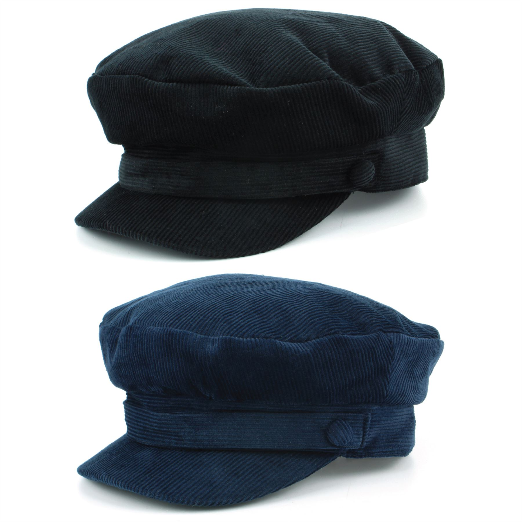 2a84d4cec23 Details about Captain s Cap Breton Hat Cord BLACK NAVY BLUE Mariner Lennon  Fisherman Fiddler