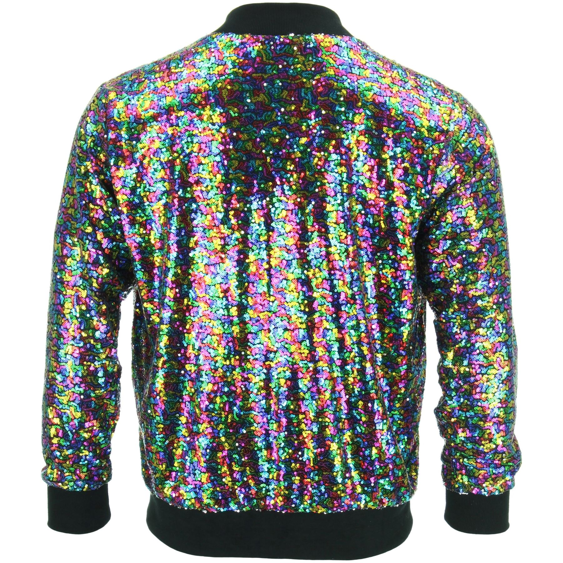 Details zu Bomber Jacket Shiny Sequin Glitter Sparkling Lame FIREFLY GOLD SILVER RAINBOW