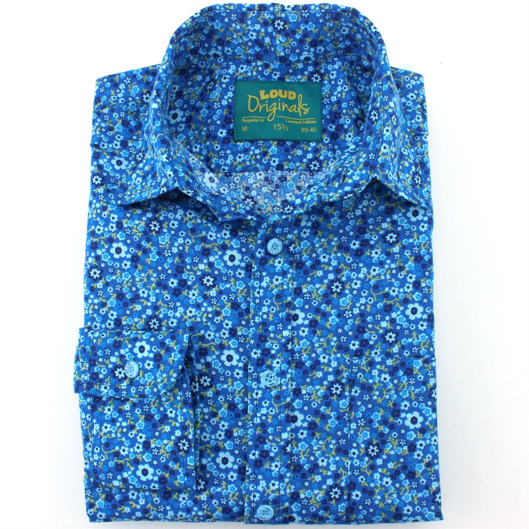 Mens Shirt Loud Originals REGULAR FIT Floral Ditzy Retro Psychedelic Psychedelic Psychedelic Fancy  | Erste Klasse in seiner Klasse  6c7041
