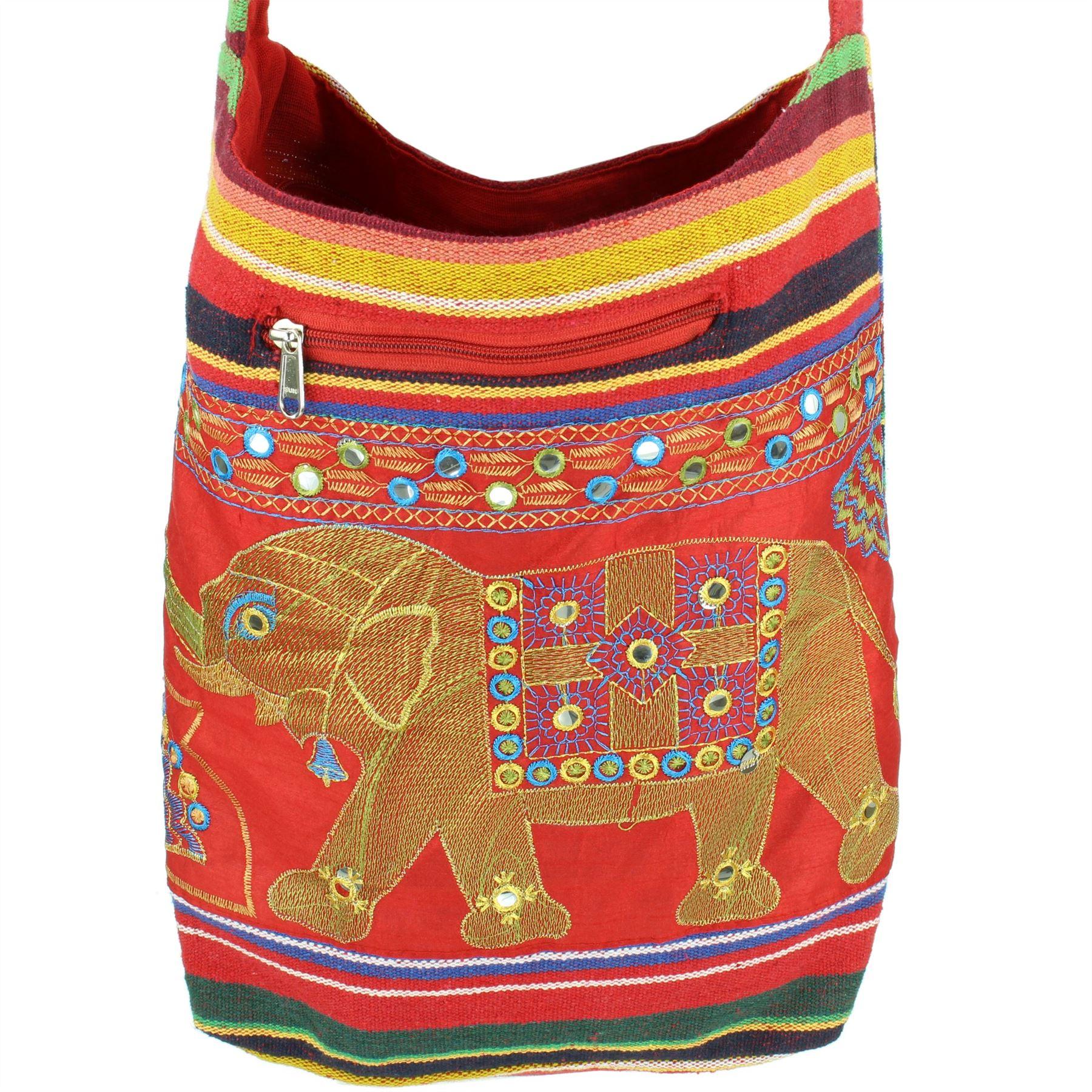 Sling-Bag-Elephant-Messenger-Crossbody-Cross-Body-Handbag-Backpack-Hippie-Hobo miniatuur 20