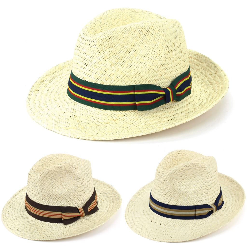 Details about Hat Panama Straw Fedora Trilby Cap Sun Travel Brim Wide Mens Ladies  Summer 31895e53664