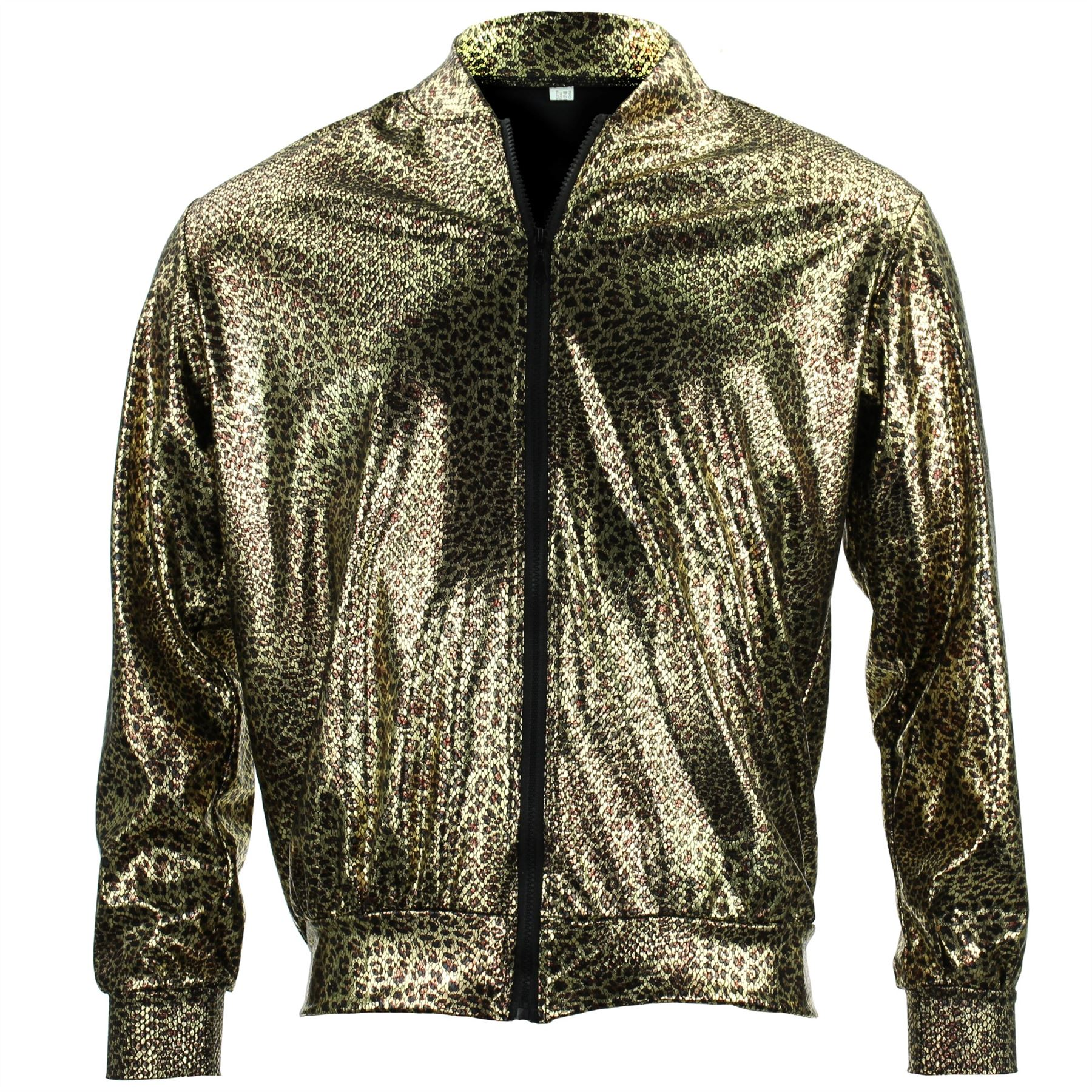Bomber-Jacket-Shiny-Unisex-Ladies-Men-FIREFLY-Sparkly-GOLD-SILVER-RAINBOW-PURPLE thumbnail 19