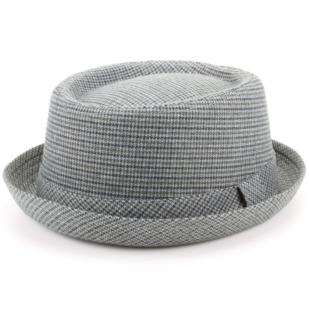 Details about Tweed Pork Pie Hat Band Brim New Retro Hawkins Vintage Ska  Round Crown 9ffb700a873