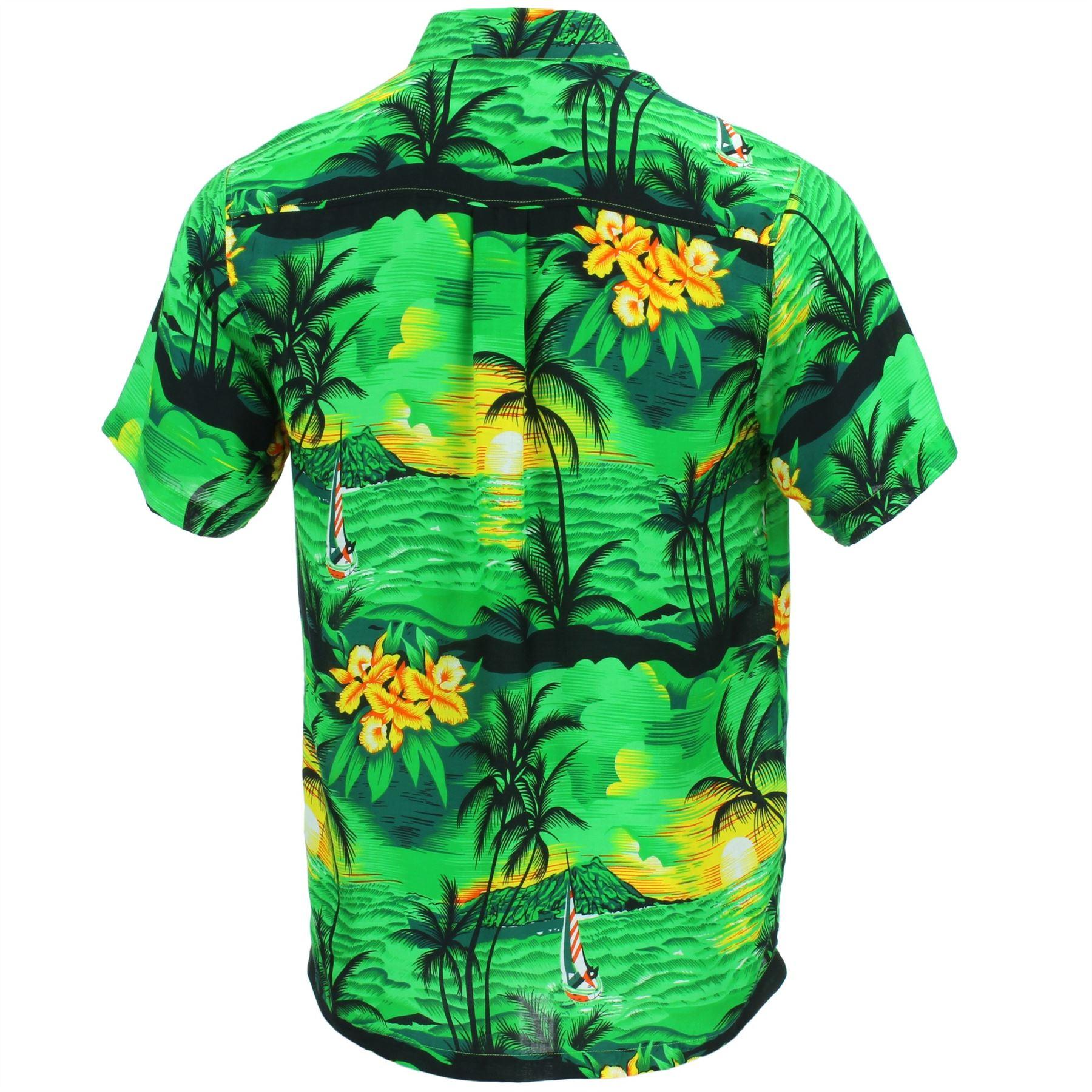 86fd690d7cd Hawaiian Shirt Mens Short Sleeve Palm Trees Party Aloha Beach Stag ...