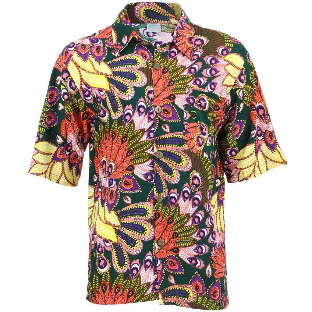 bede4721 Details about Men's Loud Shirt Retro Psychedelic Funky Party Hawaiian  Tropical GREEN