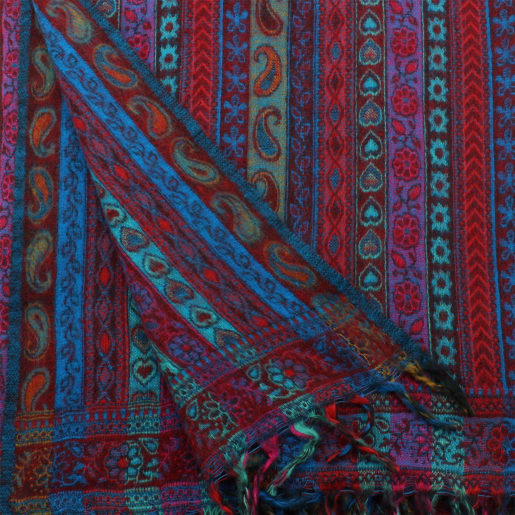 Acrylic-Wool-Blanket-Shawl-Wrap-Throw-Finest-Softest-India-Stripe-Paisley-Travel thumbnail 46