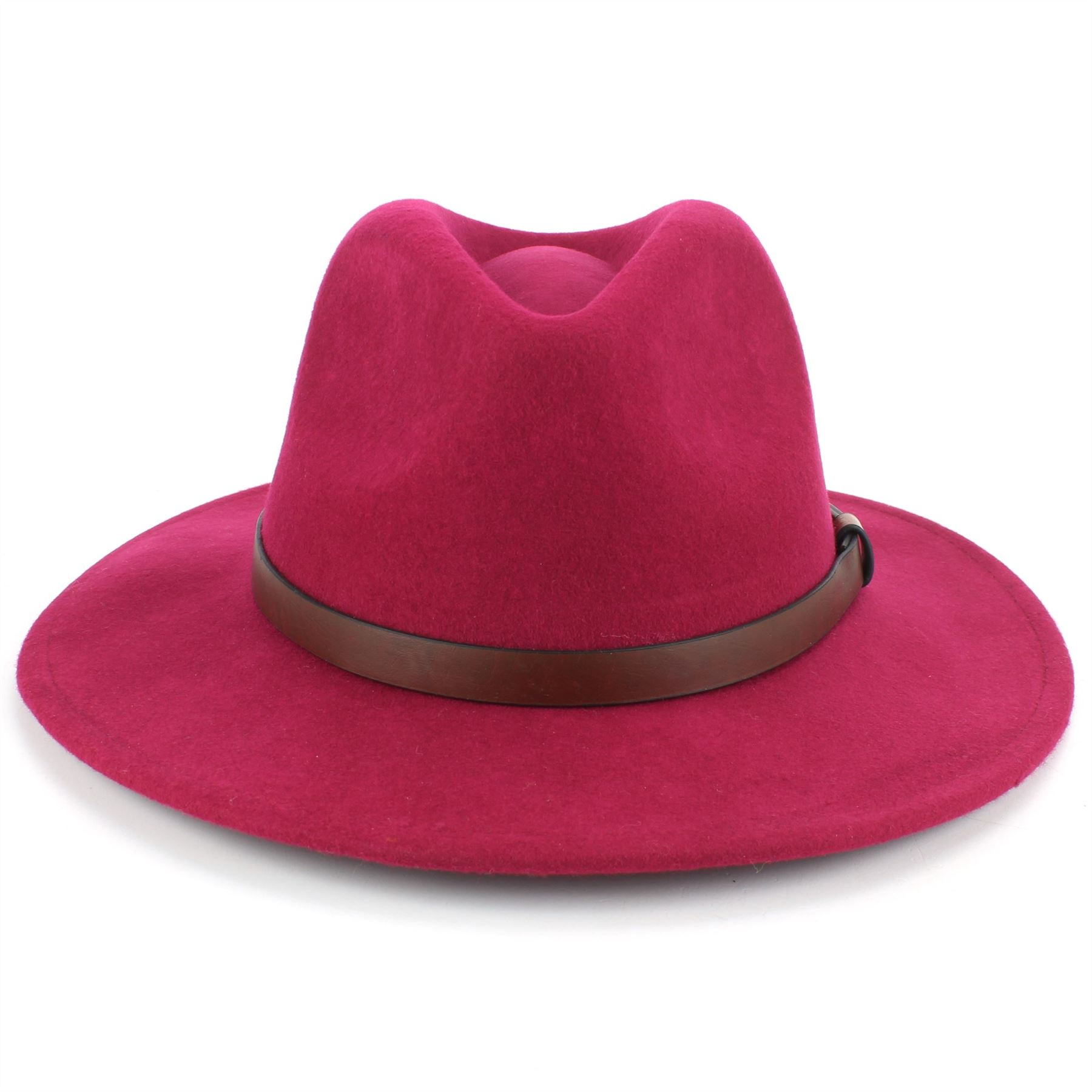 Fedora-Hat-Wool-Felt-Hawkins-Feather-Band-Trilby-Ladies-Men-Travel-Brim-Travel thumbnail 15