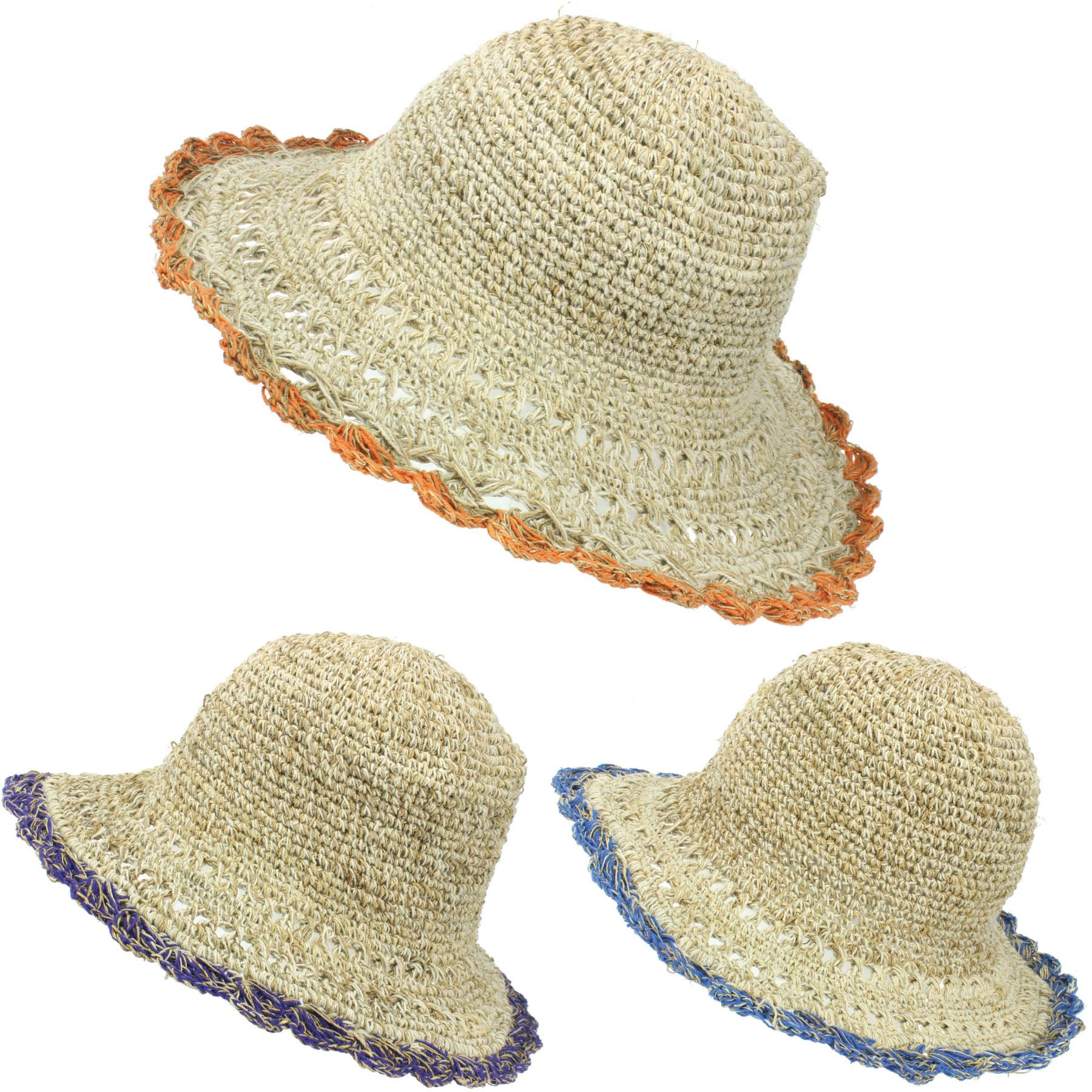 abb6e4eaabd603 Details about Sun Hat Hemp Cotton Summer LoudElephant Brim Beach Cap Boho  Hippy