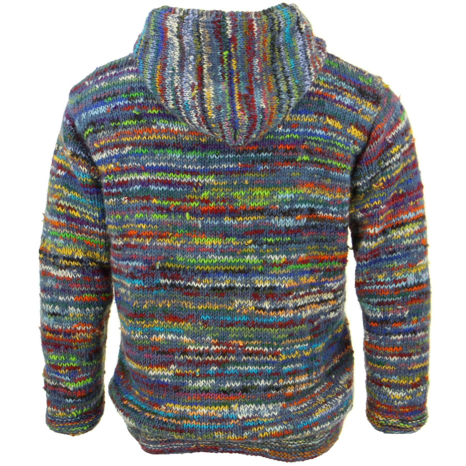 Hoodie Jumper LoudElephant Hoody SPACE DYE COLOURS Cardigan Jacket Fleece Zipped