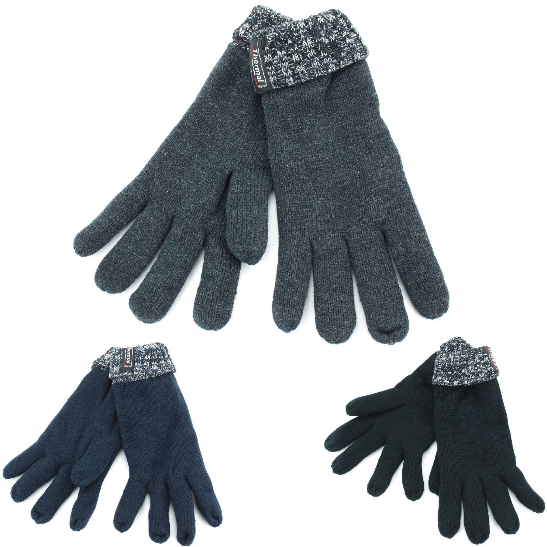 Taille unique Floso Noir Gants en polaire Thinsulate 3M 40g - Femme