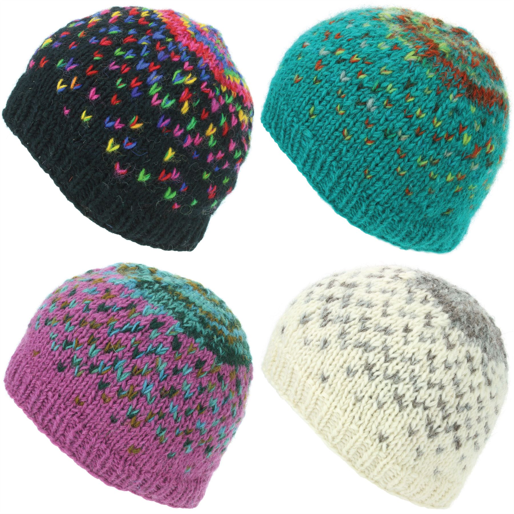 Details about Beanie Hat Wool Cap Warm Winter Colourful Soft Lined  LoudElephant Knit Ski 9723ea09e59