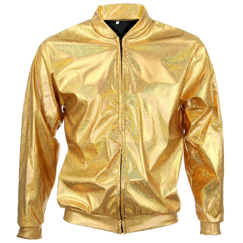 Bomber-Jacket-Shiny-Unisex-Ladies-Men-FIREFLY-Sparkly-GOLD-SILVER-RAINBOW-PURPLE thumbnail 9