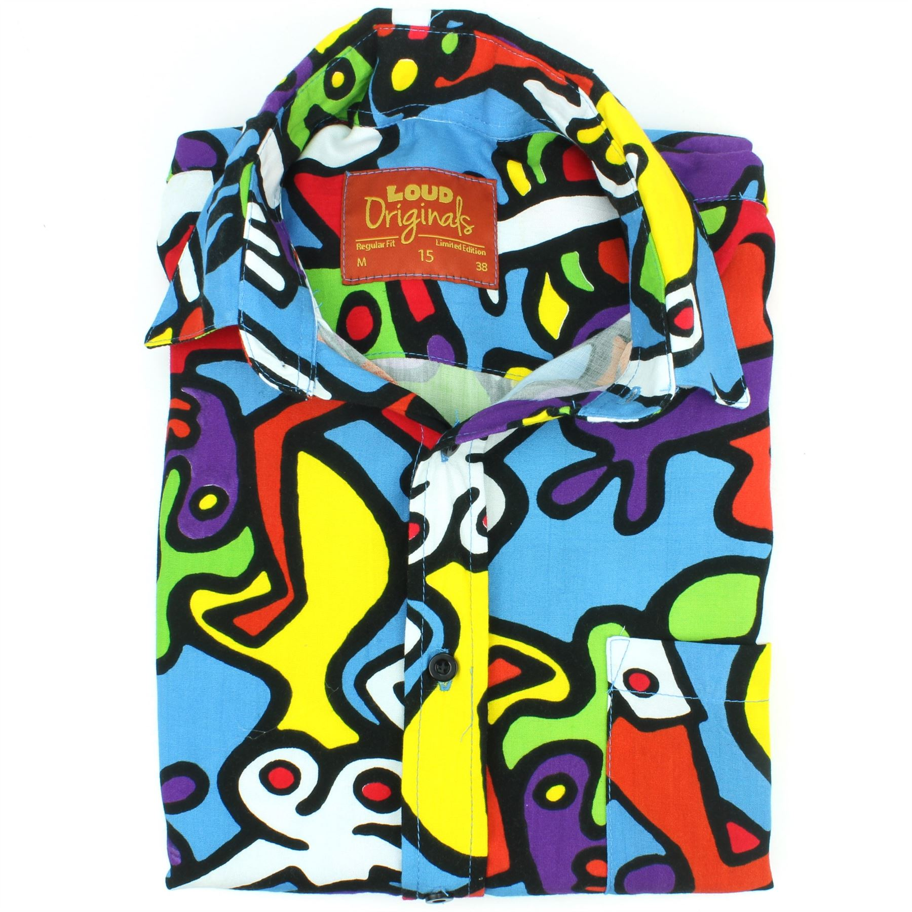 Mens-Shirt-Loud-Originals-Rayon-REGULAR-FIT-Long-Sleeve-TIFFY-PRINT-Retro-Dance thumbnail 4