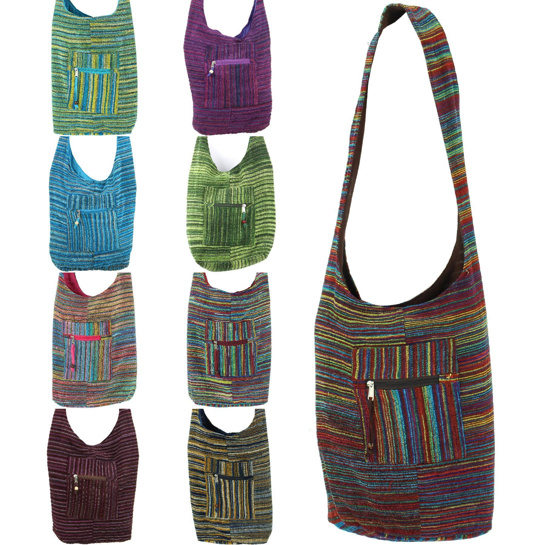 I Love Caravans Cotton Long Handle Sling Bag