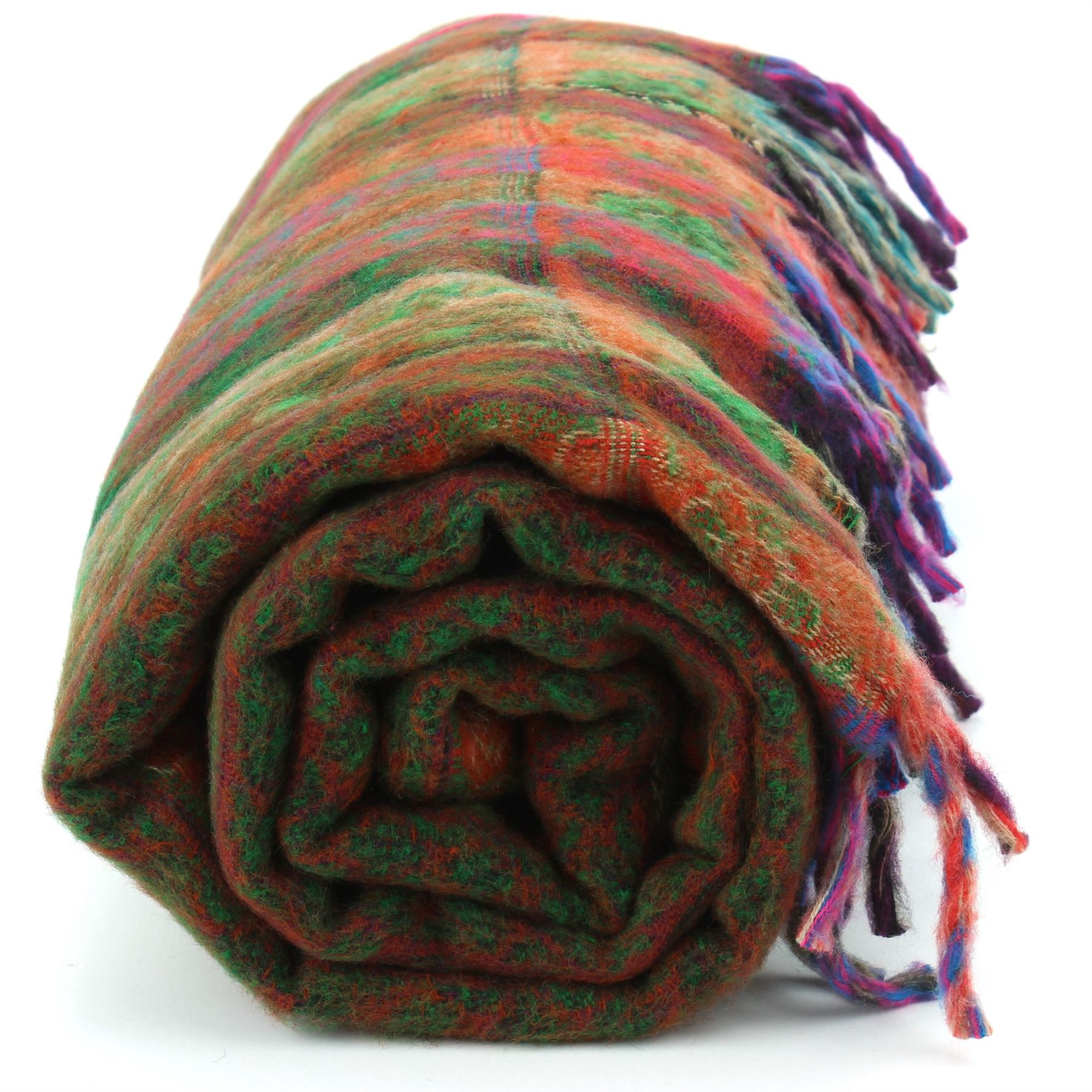 Acrylic-Wool-Blanket-Shawl-Wrap-Throw-Finest-Softest-India-Stripe-Paisley-Travel thumbnail 12
