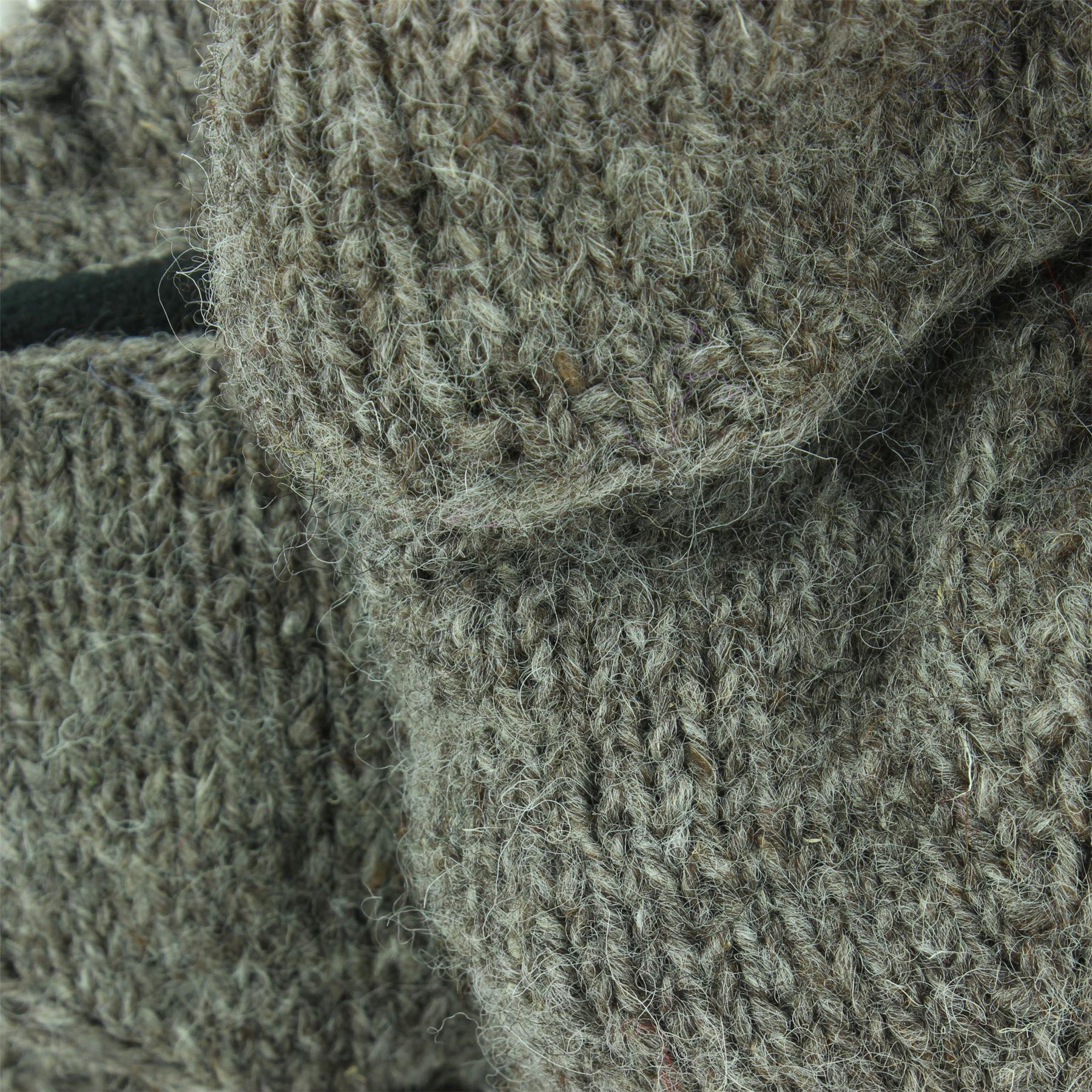 Wool-Gloves-Mittens-Fingerless-Shooter-Lined-PLAIN-Knit-Handmade-LoudElephant miniatura 7