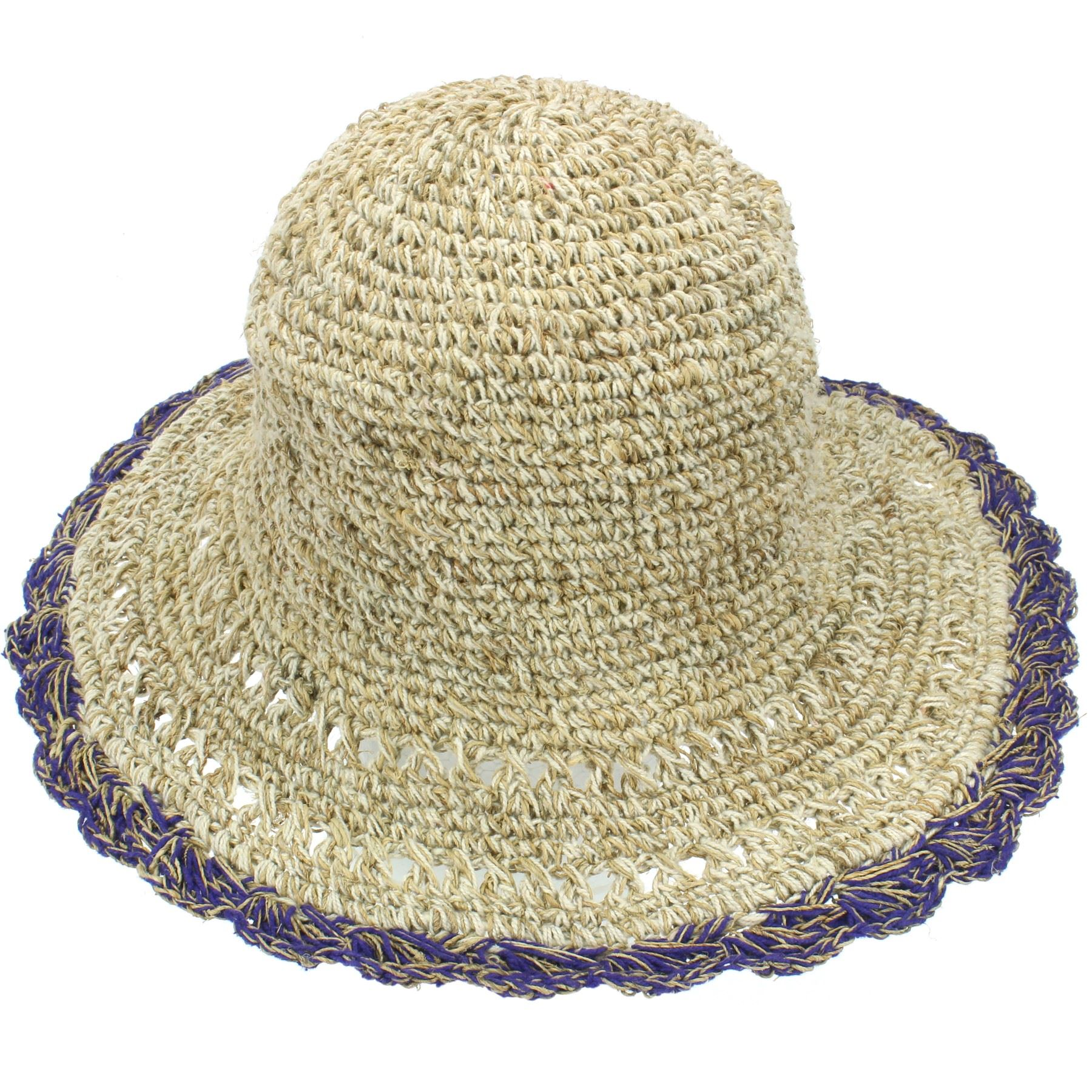 969b7b598cbb39 Sun Hat Hemp Cotton Summer LoudElephant Brim Beach Cap Boho Hippy | eBay