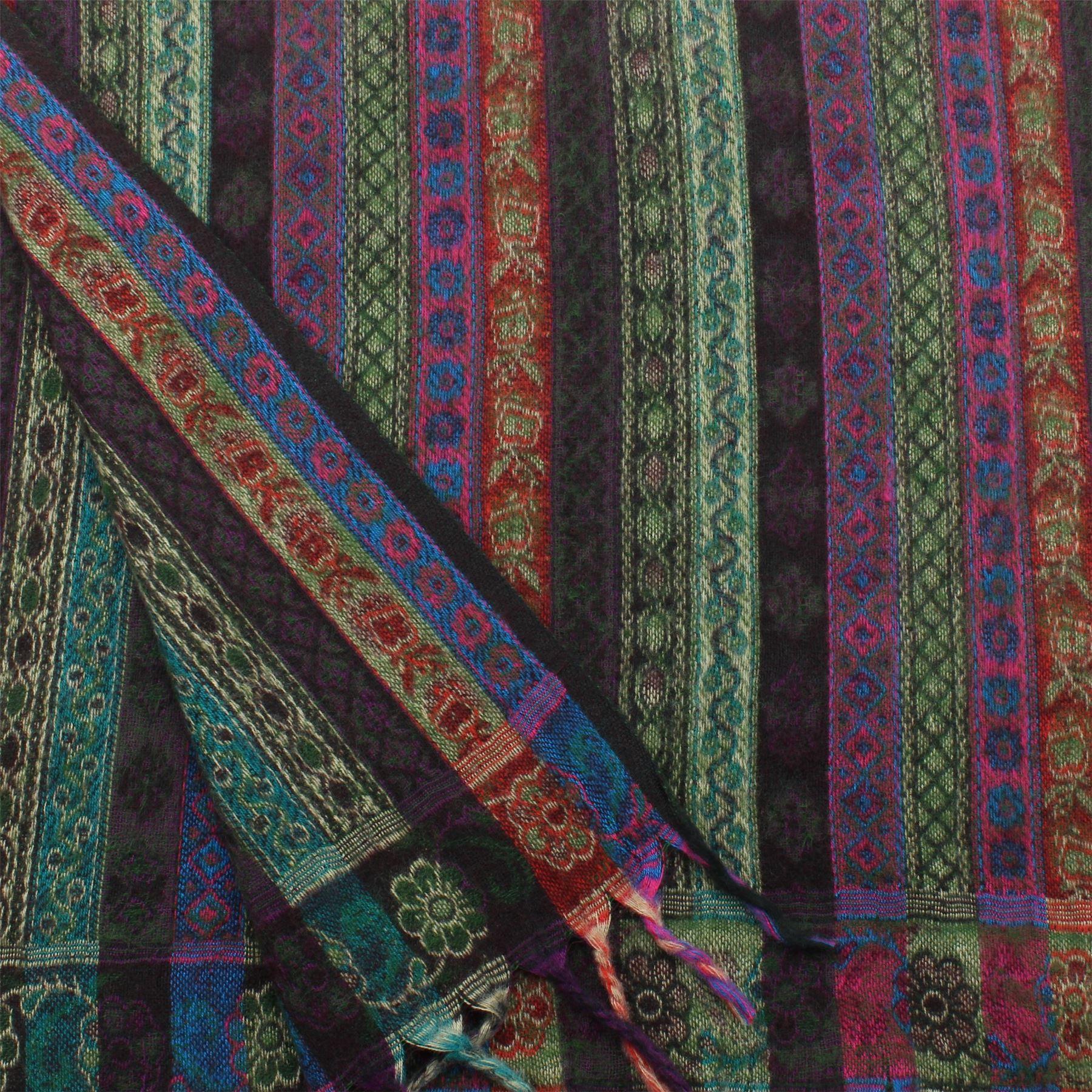 Acrylic-Wool-Blanket-Shawl-Wrap-Throw-Finest-Softest-India-Stripe-Paisley-Travel thumbnail 30