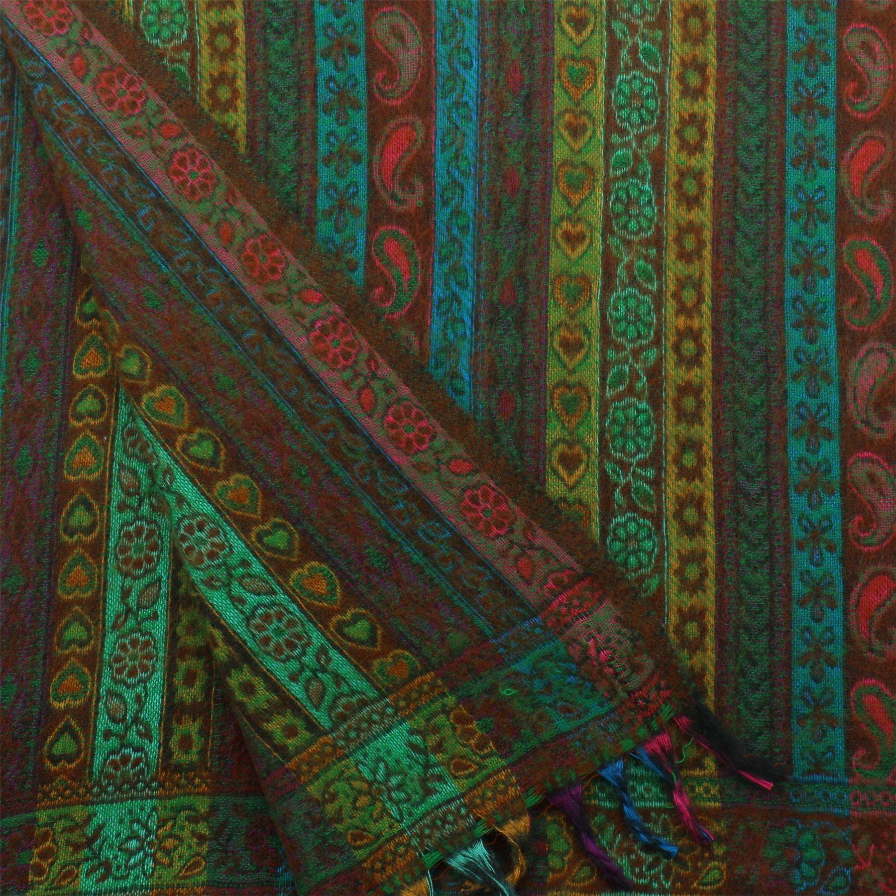 Acrylic-Wool-Blanket-Shawl-Wrap-Throw-Finest-Softest-India-Stripe-Paisley-Travel thumbnail 18