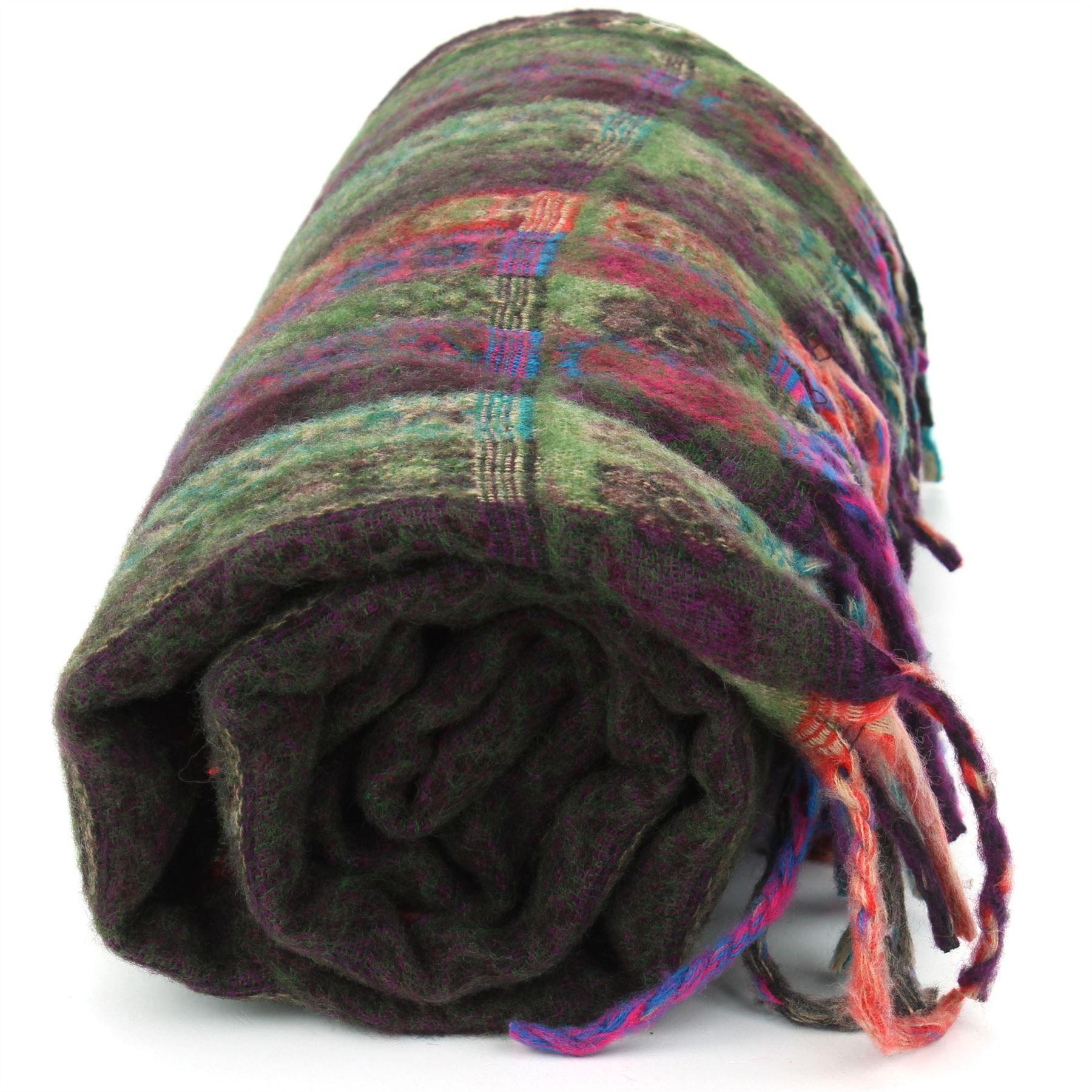 Acrylic-Wool-Blanket-Shawl-Wrap-Throw-Finest-Softest-India-Stripe-Paisley-Travel thumbnail 28