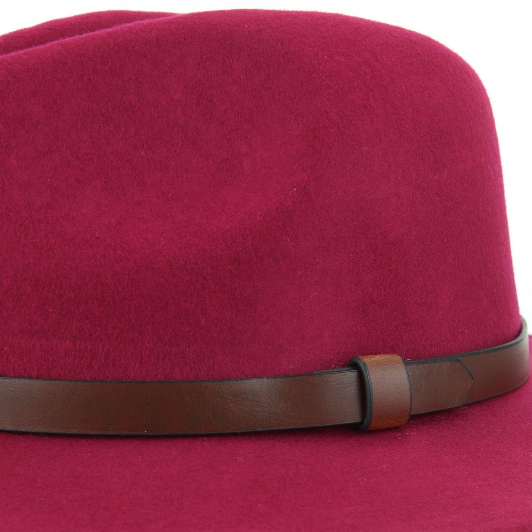 Fedora-Hat-Wool-Felt-Hawkins-Feather-Band-Trilby-Ladies-Men-Travel-Brim-Travel thumbnail 17