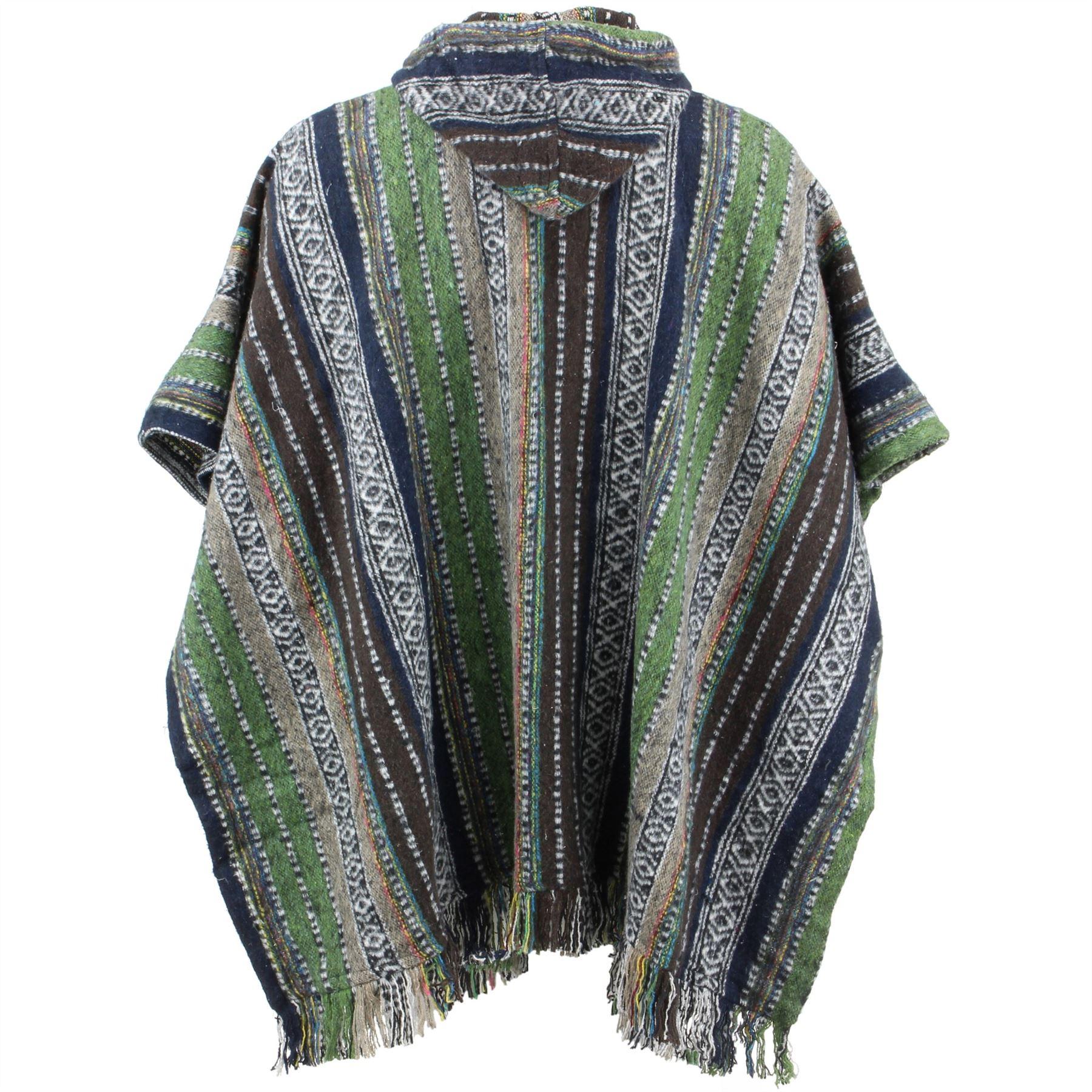 Poncho-mantello-con-cappuccio-cotone-LOUDelephant-caldo-Festival-Intrecciato-uomini-donne-breve miniatura 21