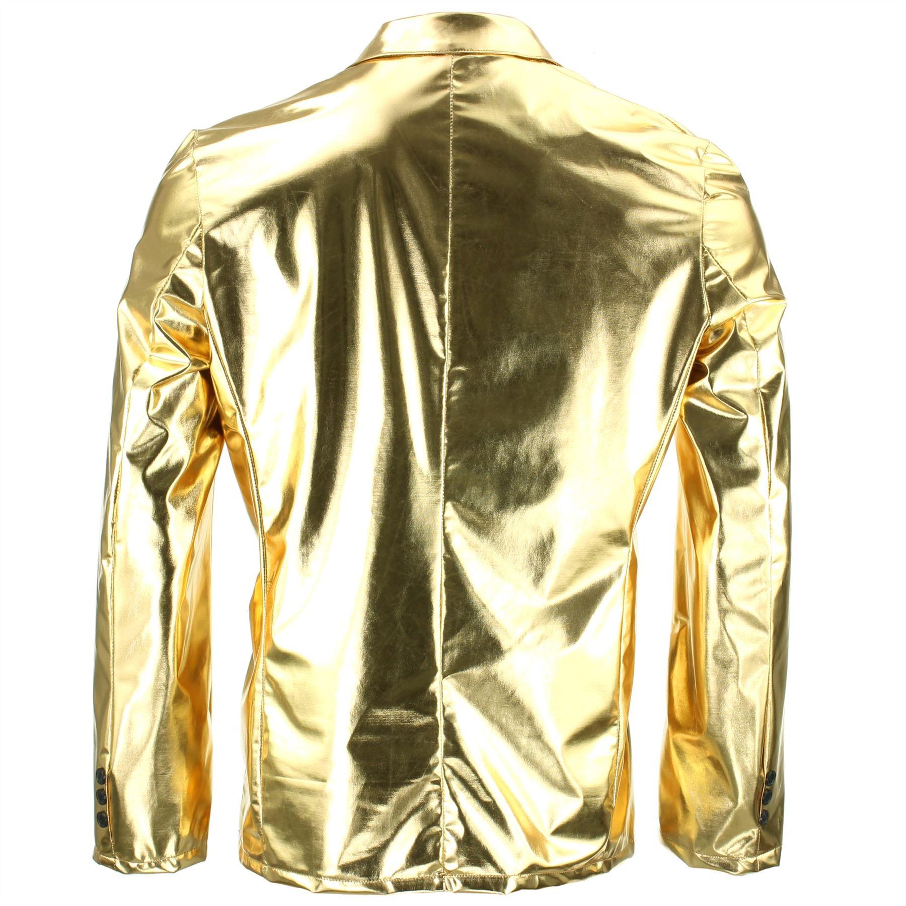 Shiny-Metallic-Blazer-Firefly-Waistcoat-Party-Dressing-up thumbnail 3