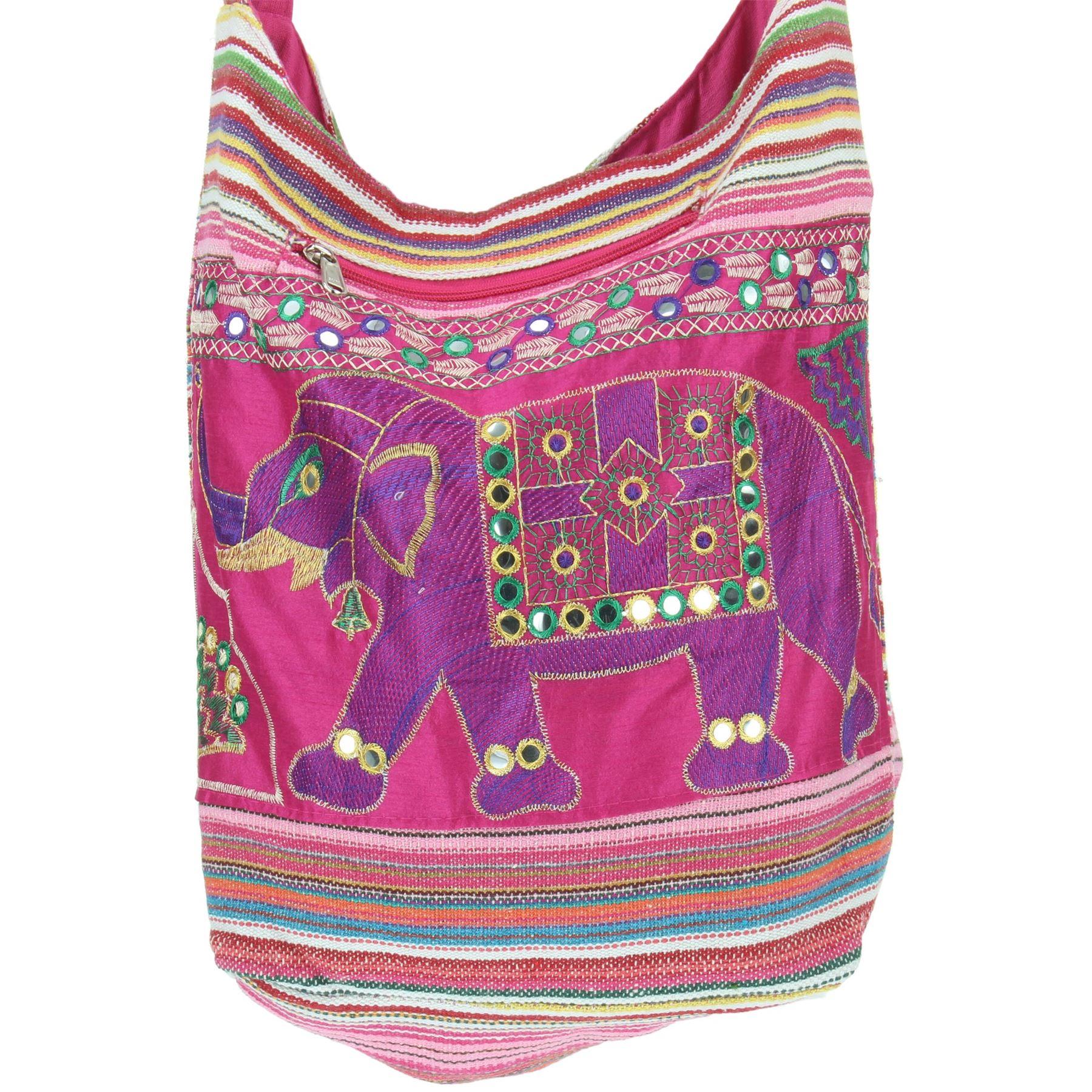 Sling-Bag-Elephant-Messenger-Crossbody-Cross-Body-Handbag-Backpack-Hippie-Hobo miniatuur 15