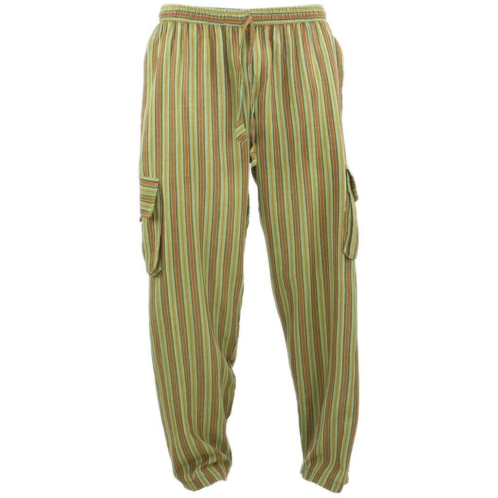 Vintage Hippie 60s Striped Jeans Cotton Denim Pants Unisex ... |Hippie Striped Pants