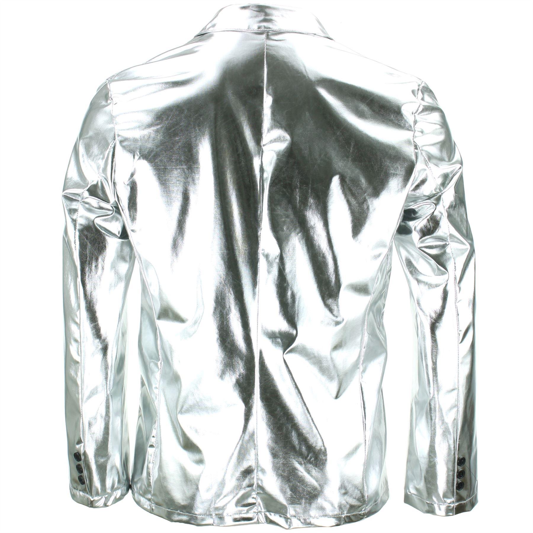 Shiny-Metallic-Blazer-Firefly-Waistcoat-Party-Dressing-up thumbnail 9