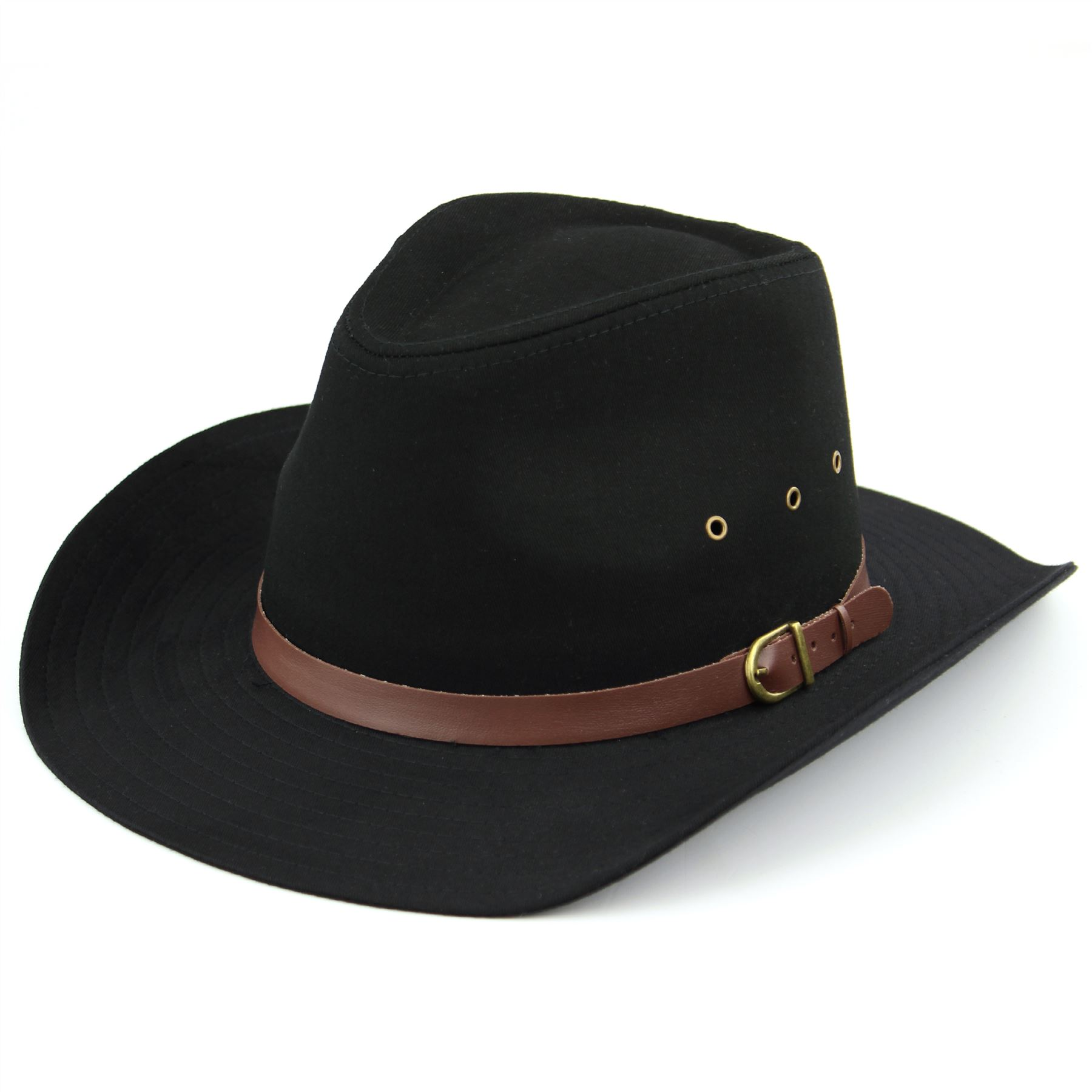 7b8b23bea80 Details about Cowboy Hat Wide Brim Cotton Summer Light Indian Horse Black  Beige New