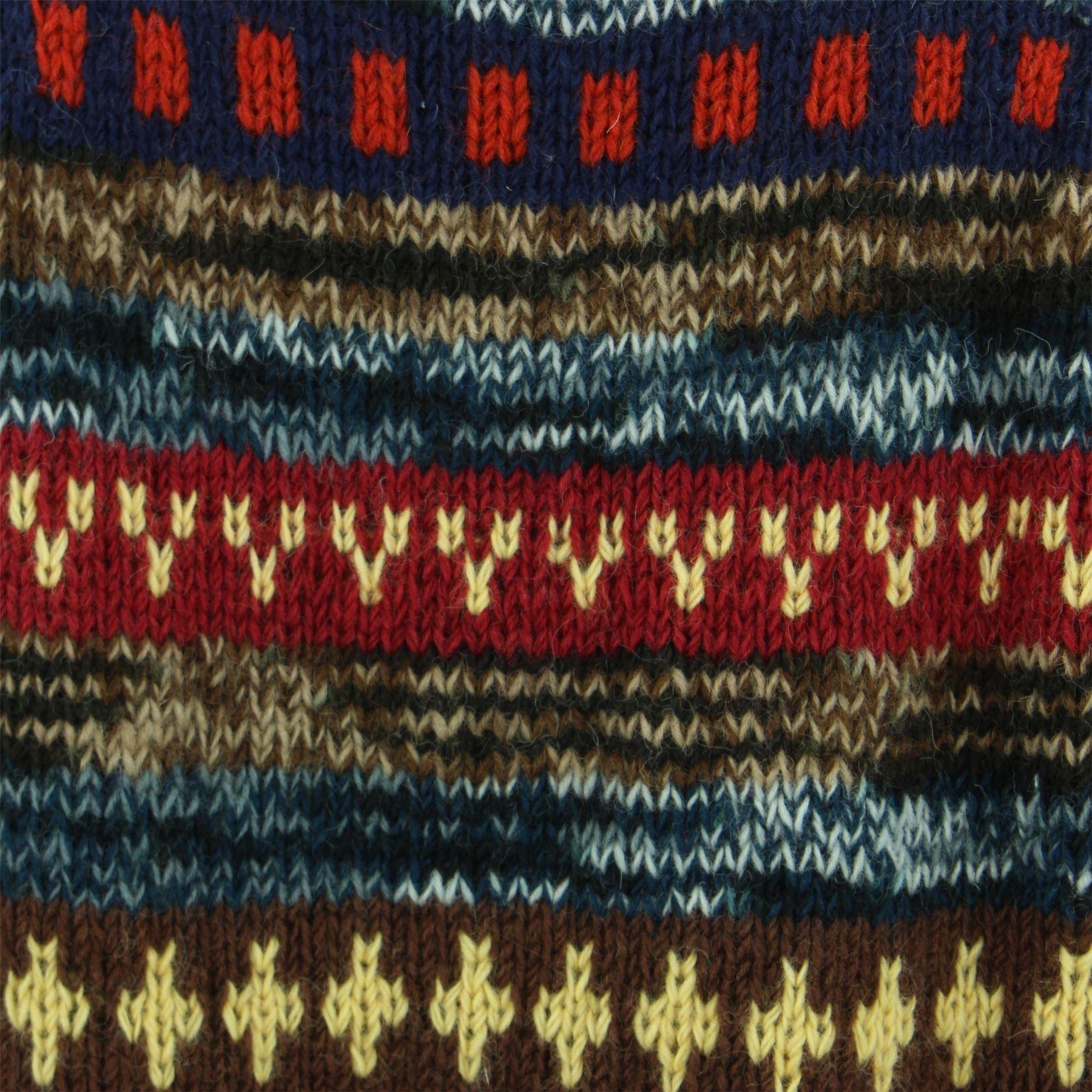thumbnail 8 - Wool Knit Jumper Sweater Pullover Fairisle Nordic Abstract Warm Nepal Loose