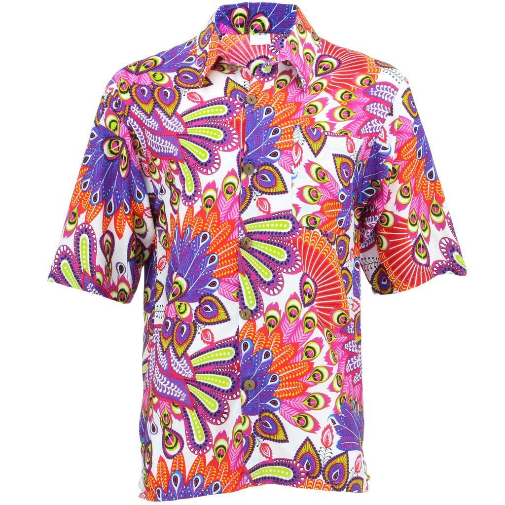 Men 039 S Loud Shirt Retro Psychedelic Funky Party Hawaiian