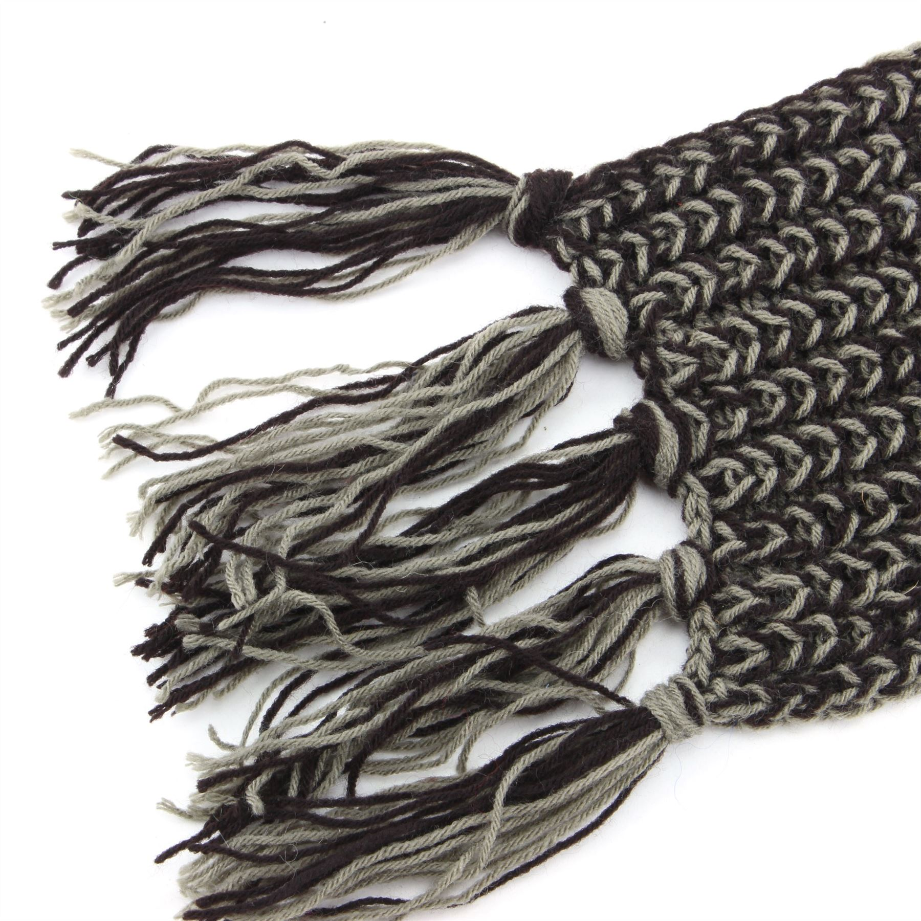 Sciarpa acrilico lavorato a maglia a trama grossa Nappe Lunga A Maglia Caldo Inverno Colore Scialle