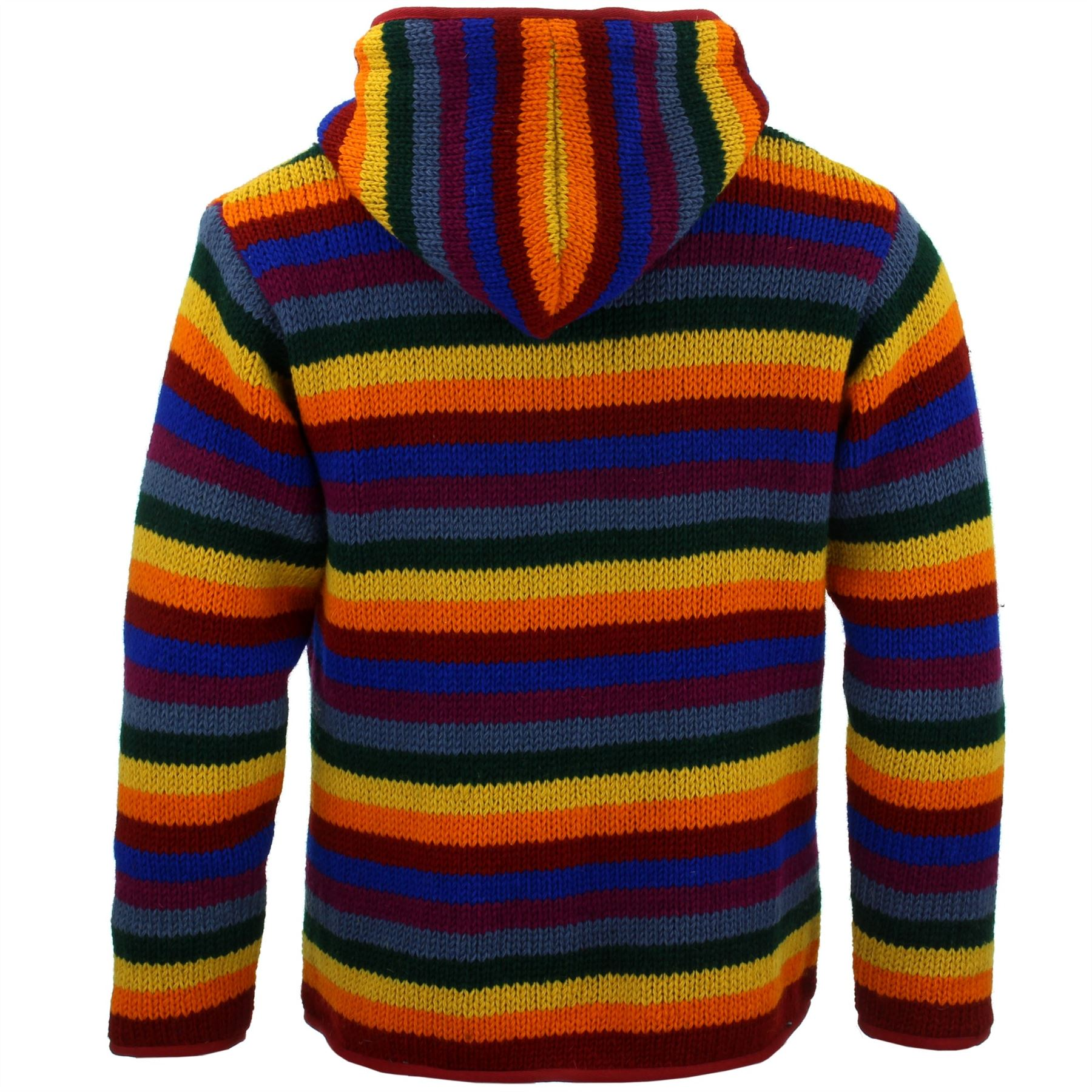 Brand New Men/'s Tie Dye Fleece Lined Hippy Jumper Festival Winter Hippie Jacket