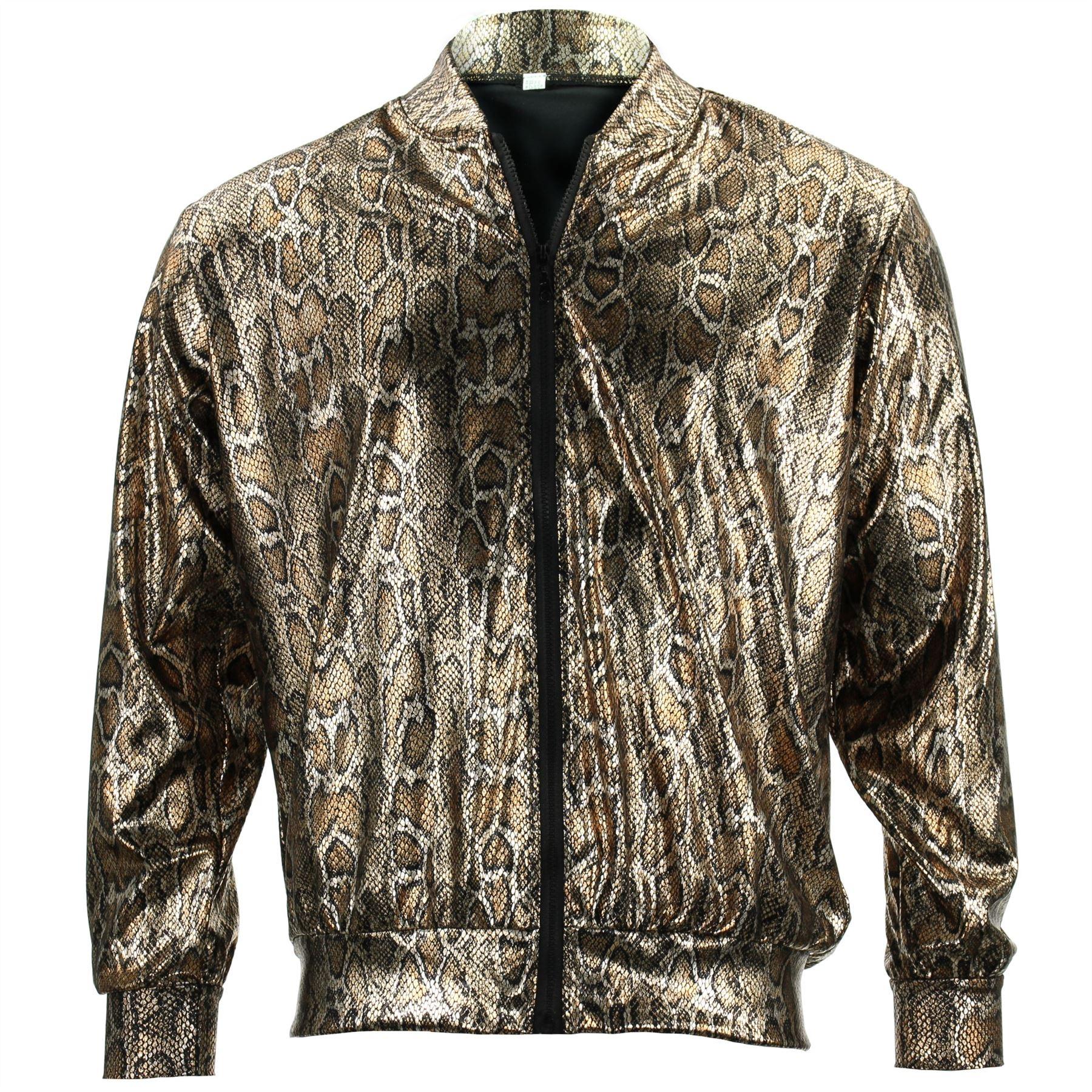 Bomber-Jacket-Shiny-Unisex-Ladies-Men-FIREFLY-Sparkly-GOLD-SILVER-RAINBOW-PURPLE thumbnail 22