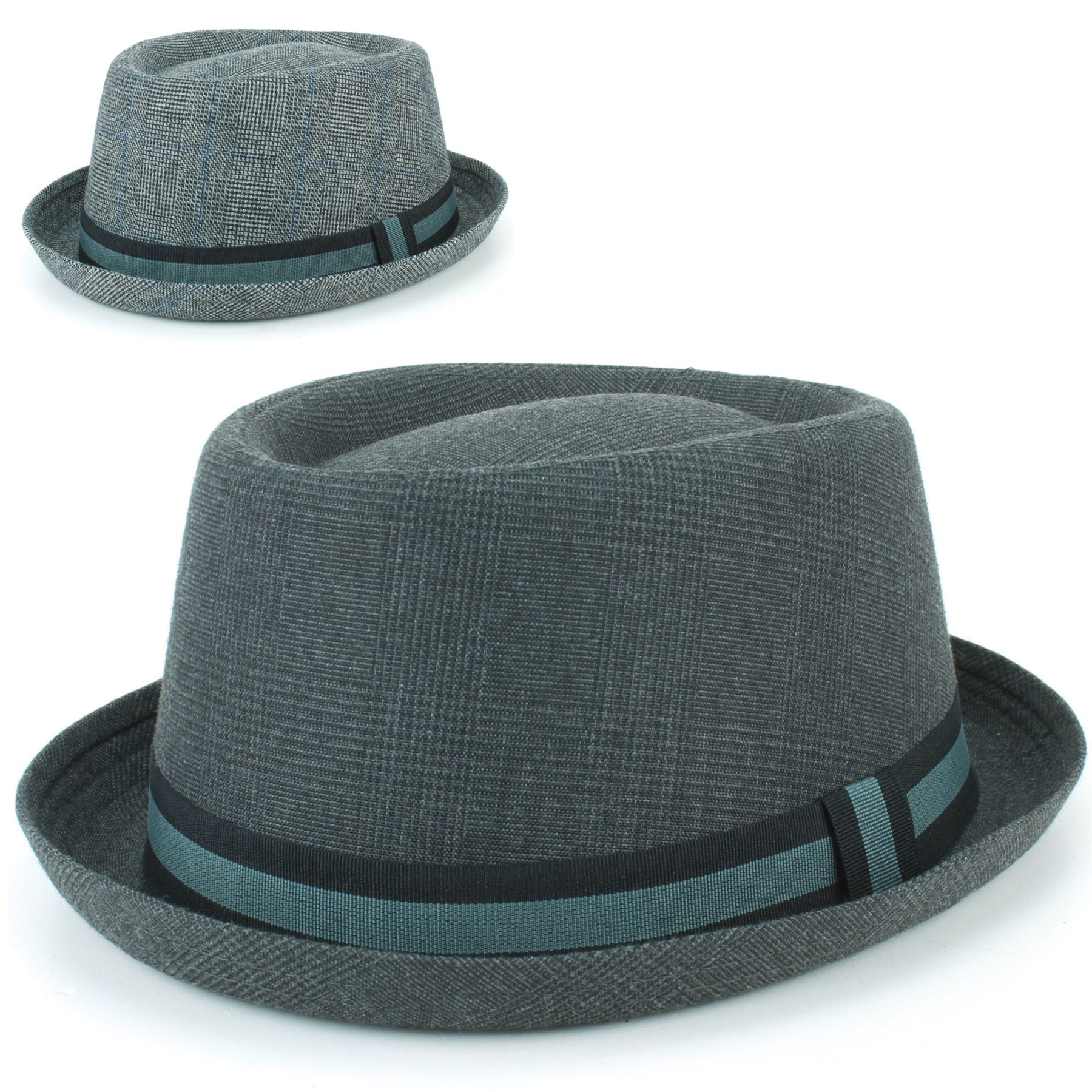 767c9e8ca5def Details about Porkpie Hat Pork Pie Trilby Hawkins Tweed Fedora Stingy Brim  Jazz Ska Retro