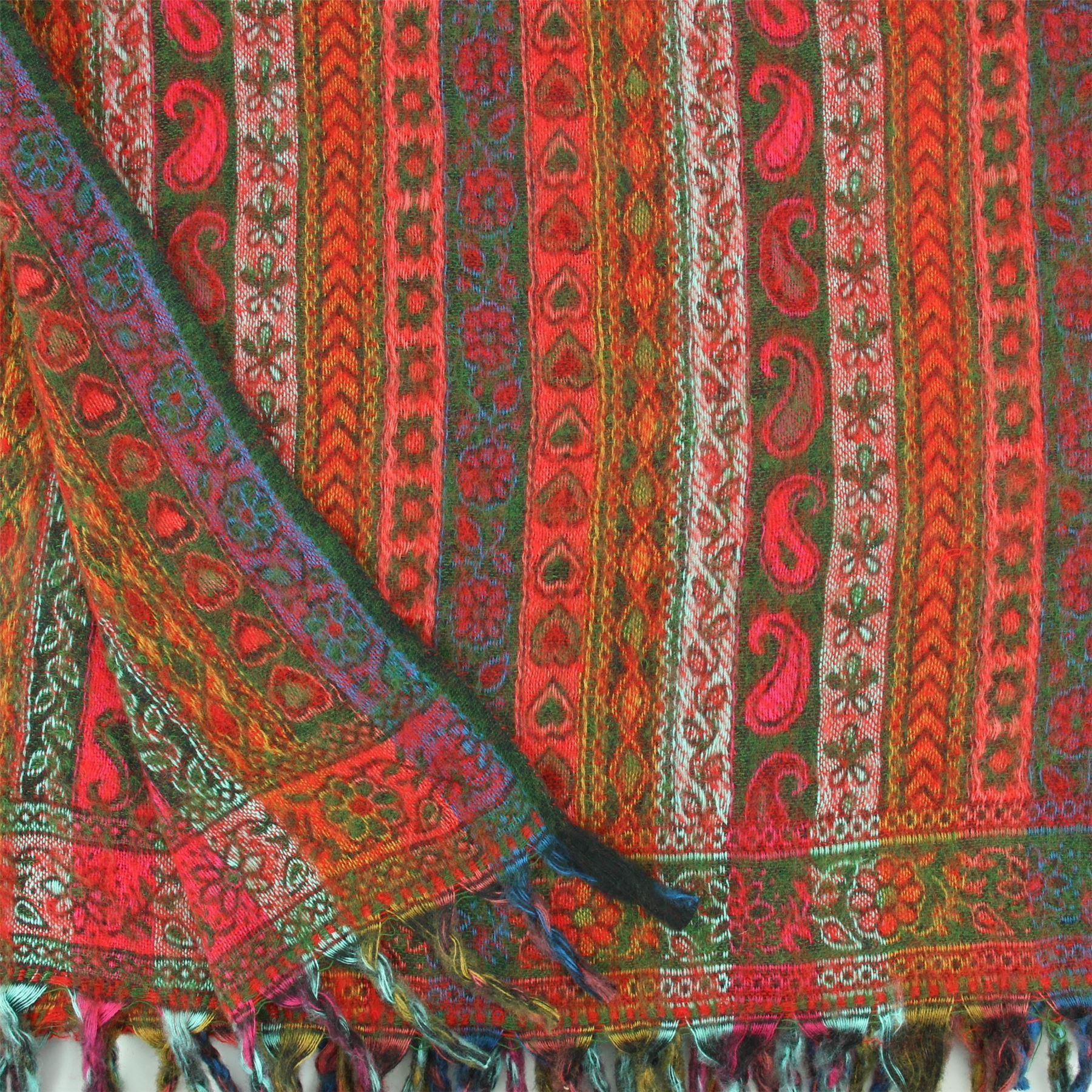 Acrylic-Wool-Blanket-Shawl-Wrap-Throw-Finest-Softest-India-Stripe-Paisley-Travel thumbnail 42