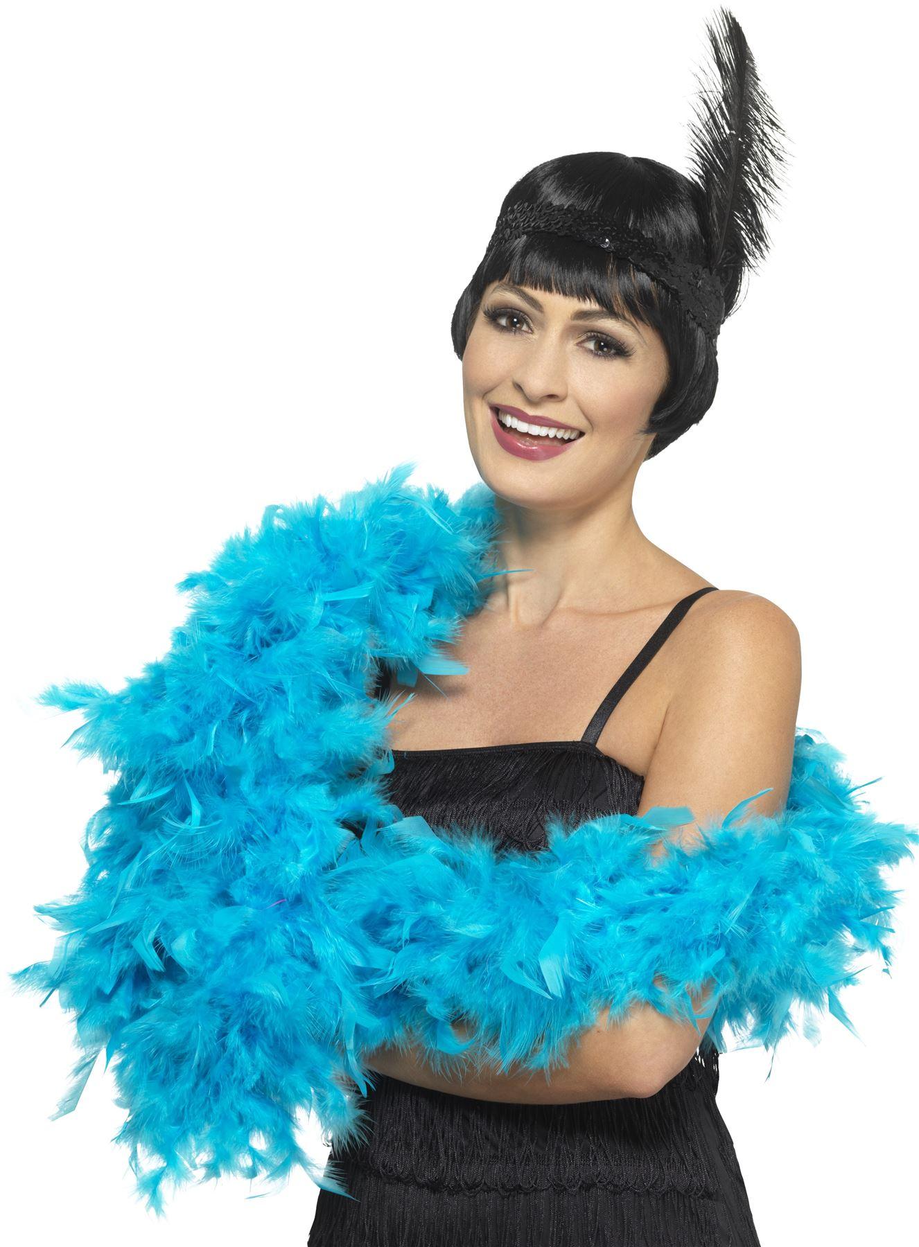 Pluma-Boa-Hen-Noche-Deluxe-Gatsby-Flapper-Burlesque-1920s-Accesorio-6-ft-approx-1-83-m