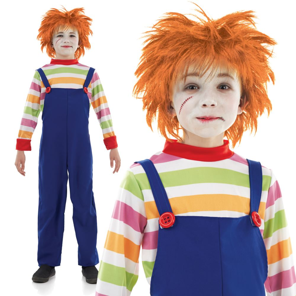 evil doll boys girls halloween costume chucky 80s