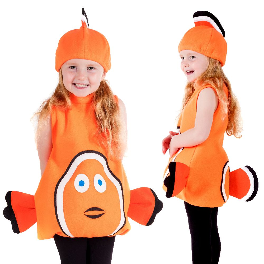 Toddler Clown Fish Costume Girls Nemo Fancy Dress Boys Book Week