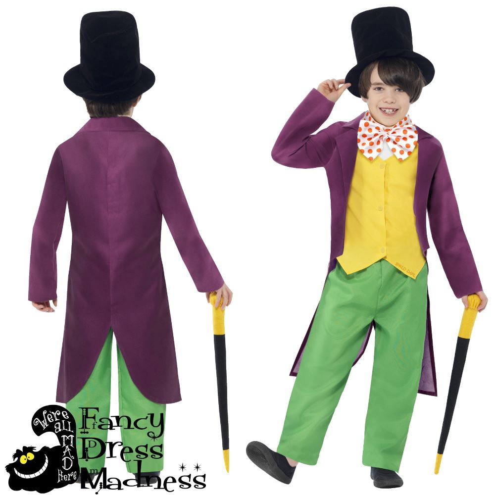 Kids-Book-Week-Costumes-Roald-Dahl-Girls-Matilda-  sc 1 st  eBay & Kids Book Week Costumes Roald Dahl Girls Matilda Boys Willy Wonka ...