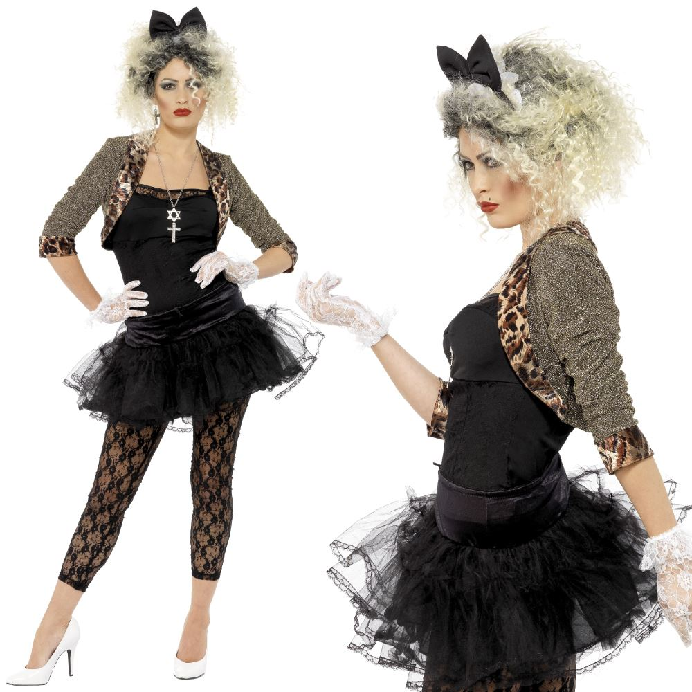 smiffys ladies wild child madonna 80s pop star fancy dress adult