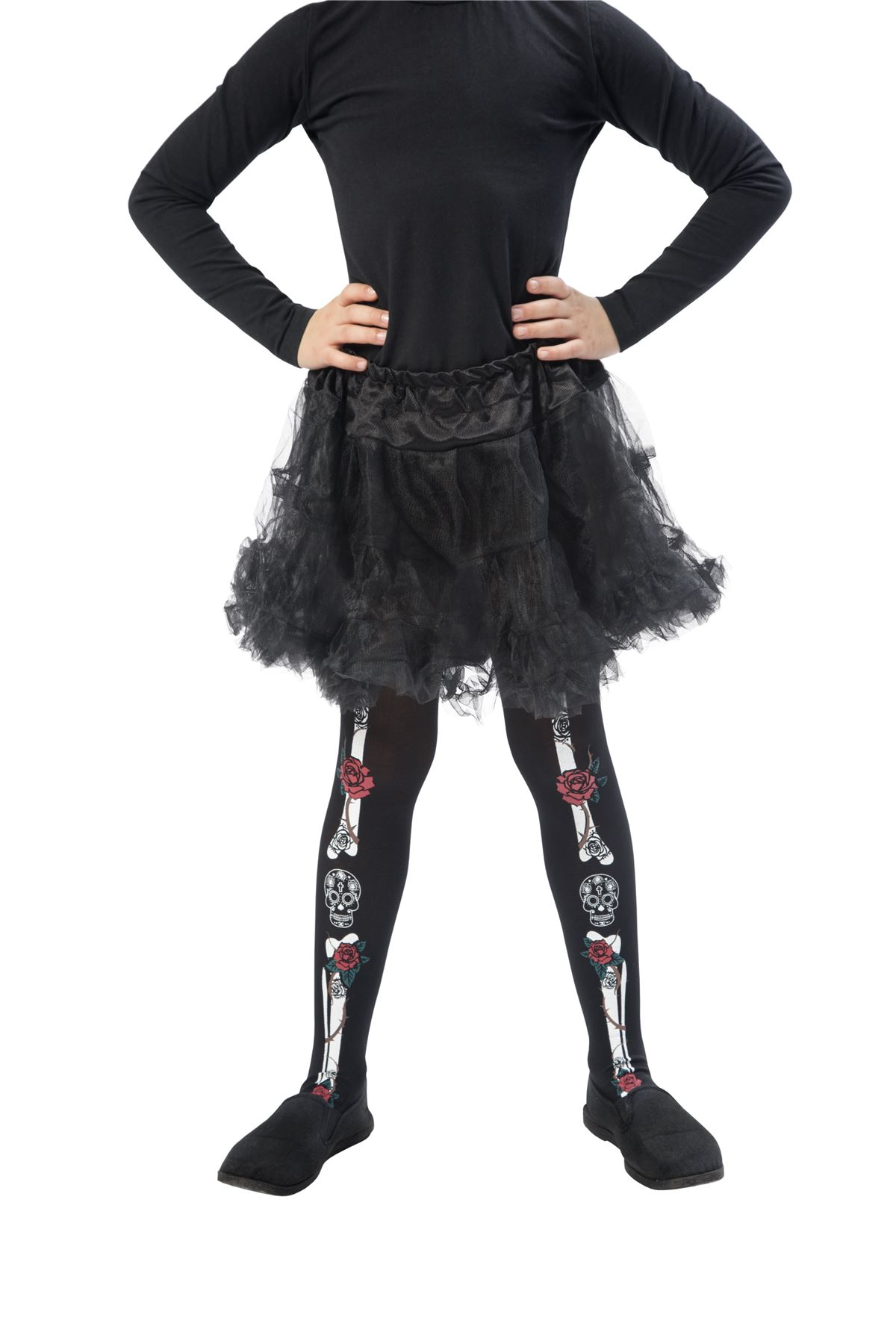 girls halloween tights fancy dress scary spooky childrens kids